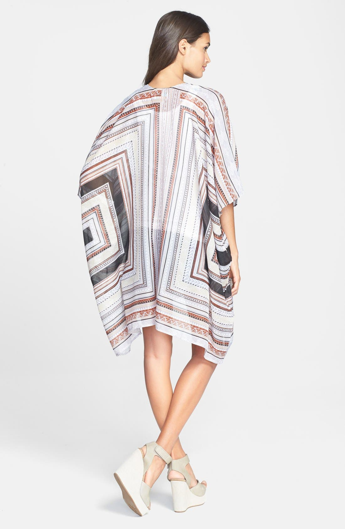 Oversized Print Cover-Up,                             Alternate thumbnail 3, color,                             001