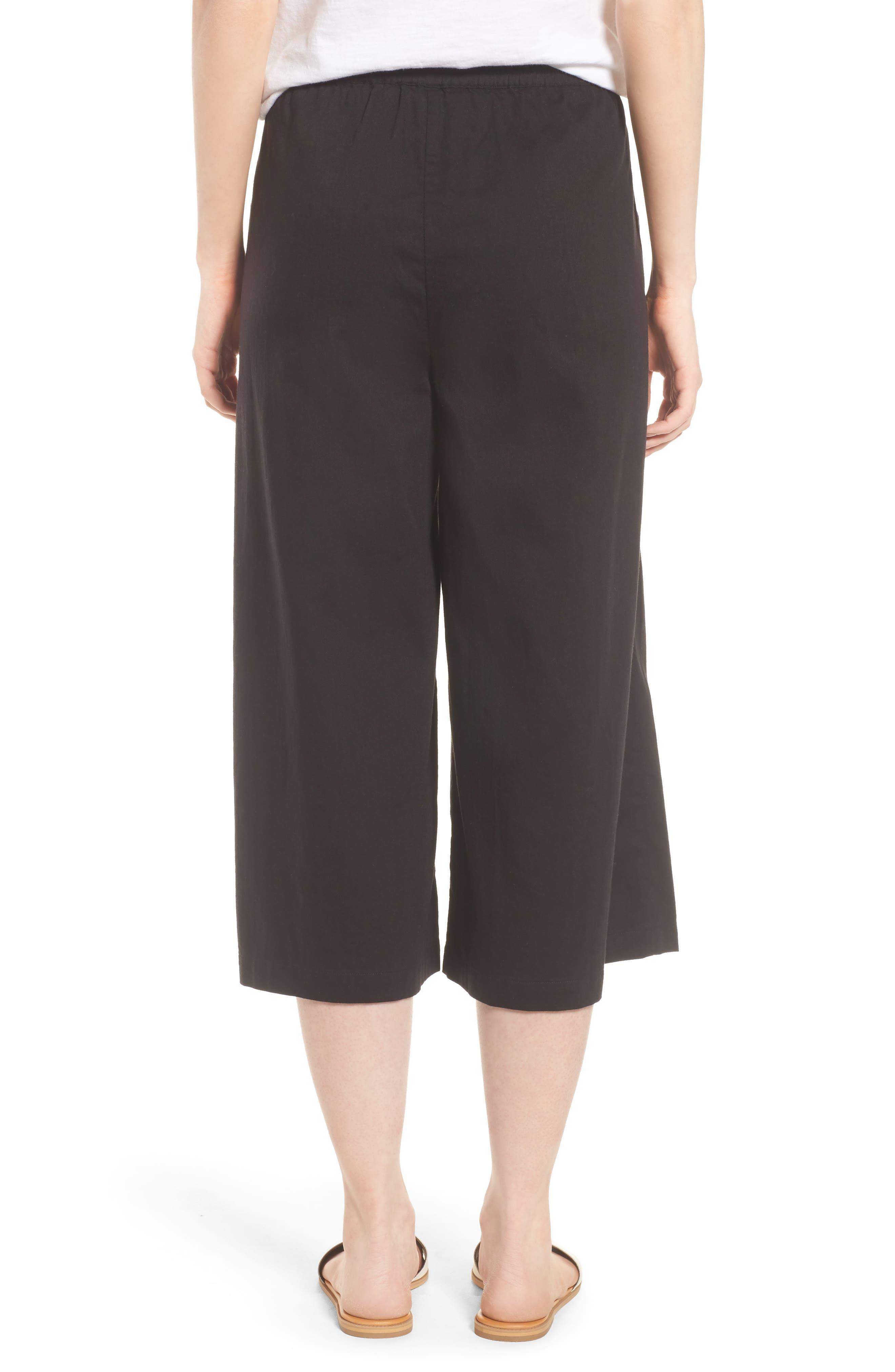 Wide Leg Crop Pants,                             Alternate thumbnail 3, color,