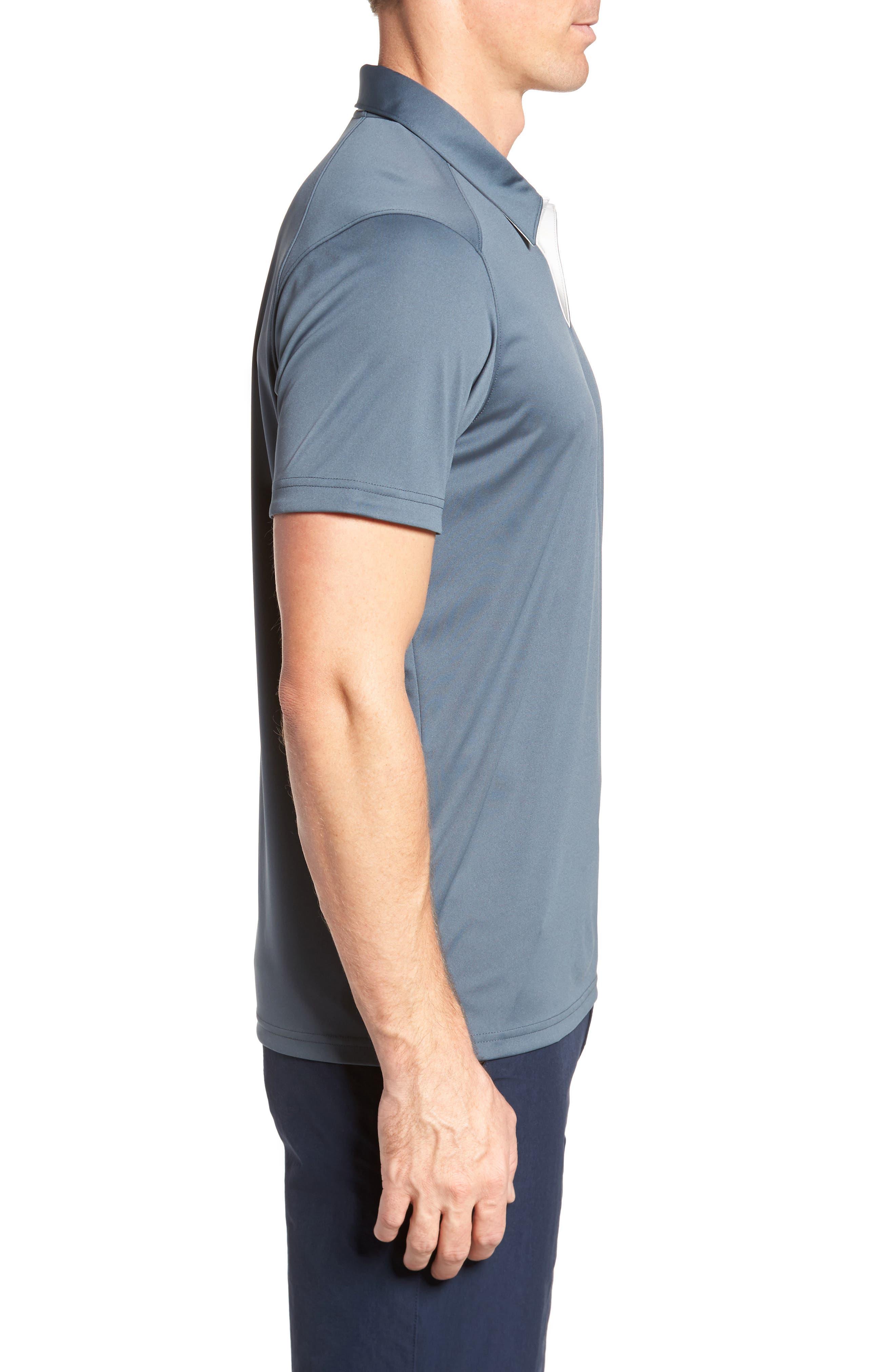 Divisional Polo Shirt,                             Alternate thumbnail 3, color,                             DARK SLATE