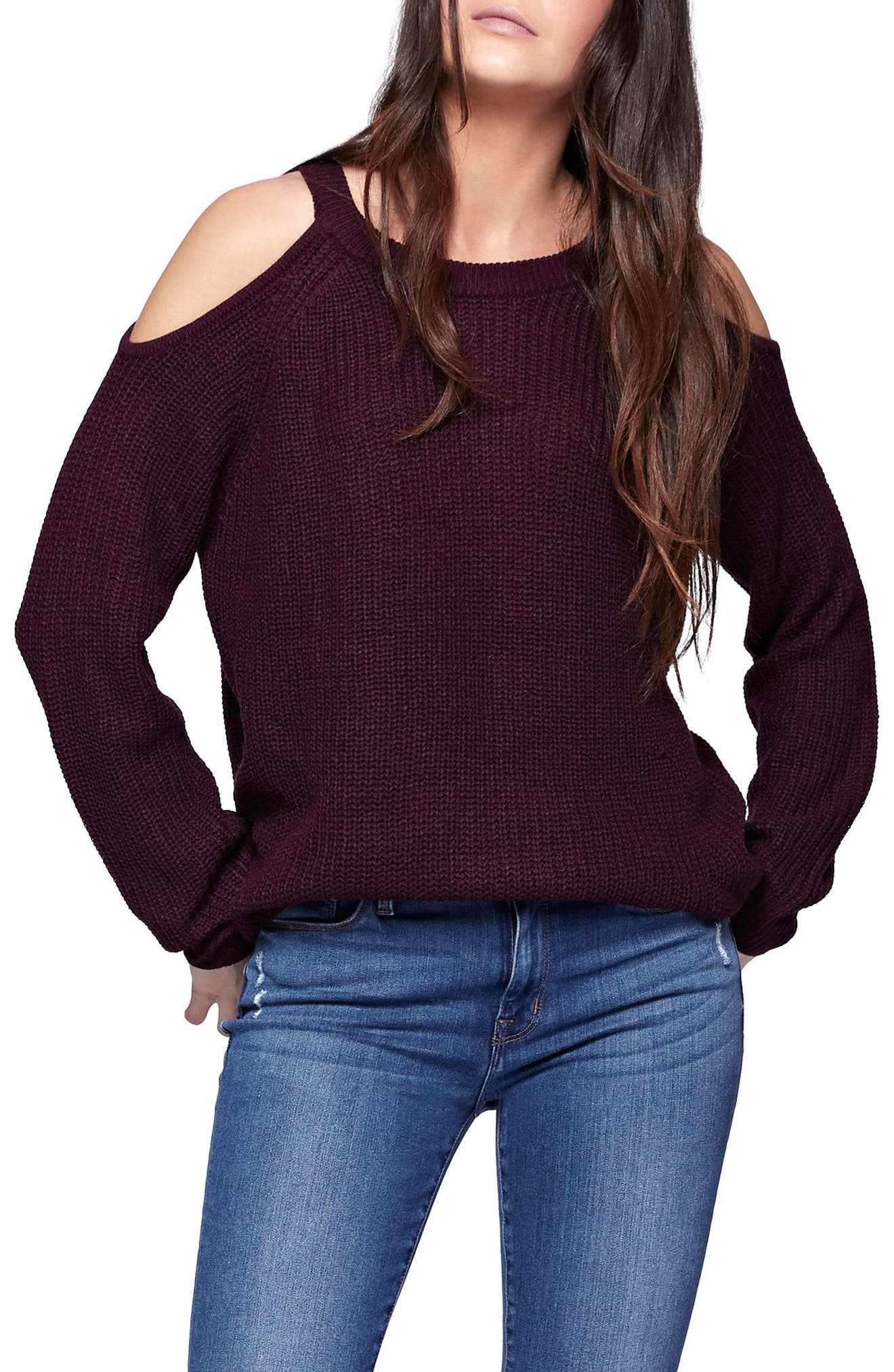 Riley Cold Shoulder Sweater,                             Alternate thumbnail 24, color,