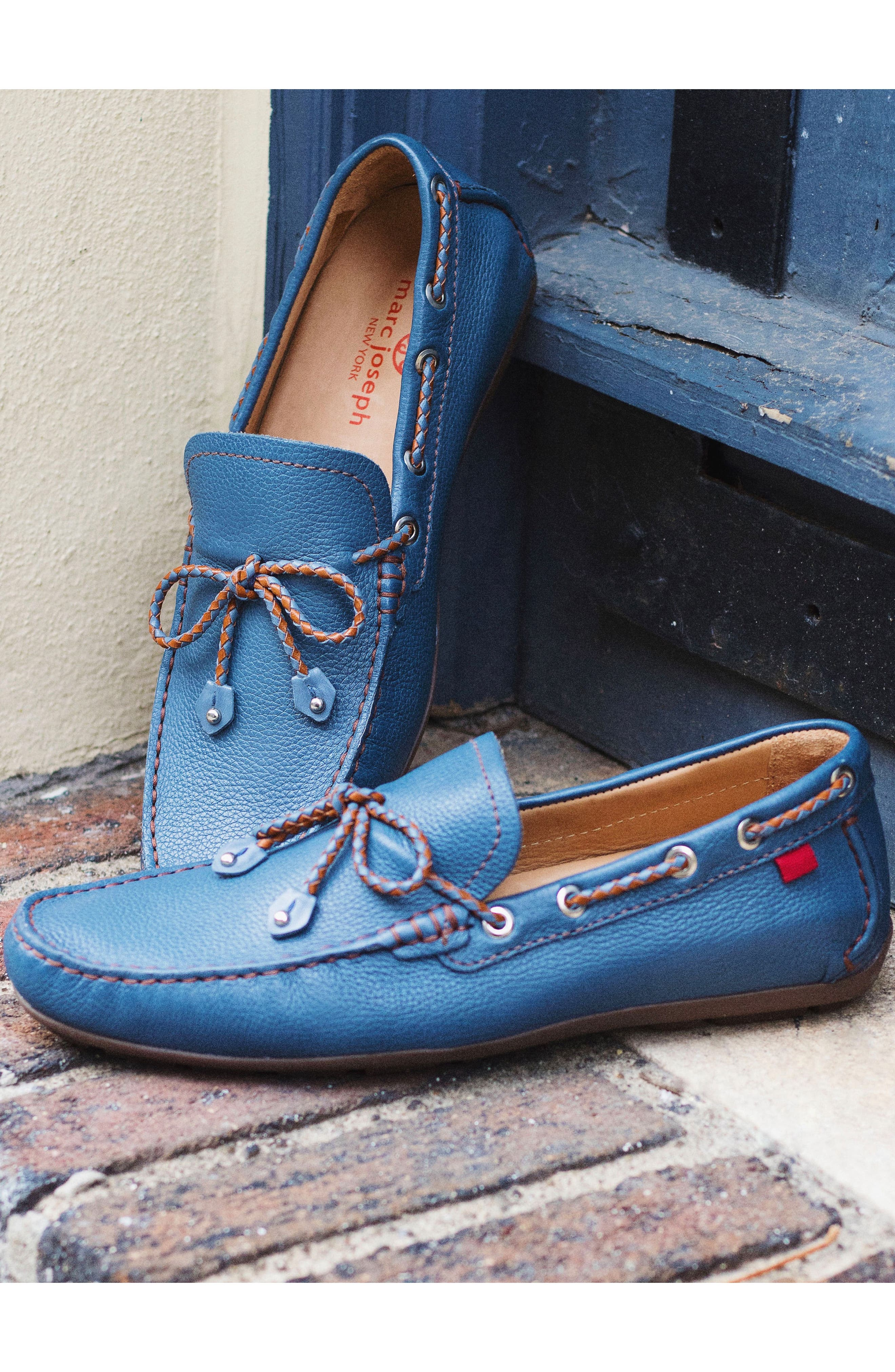 'Cypress' Moccasin,                             Alternate thumbnail 6, color,                             STEEL BLUE