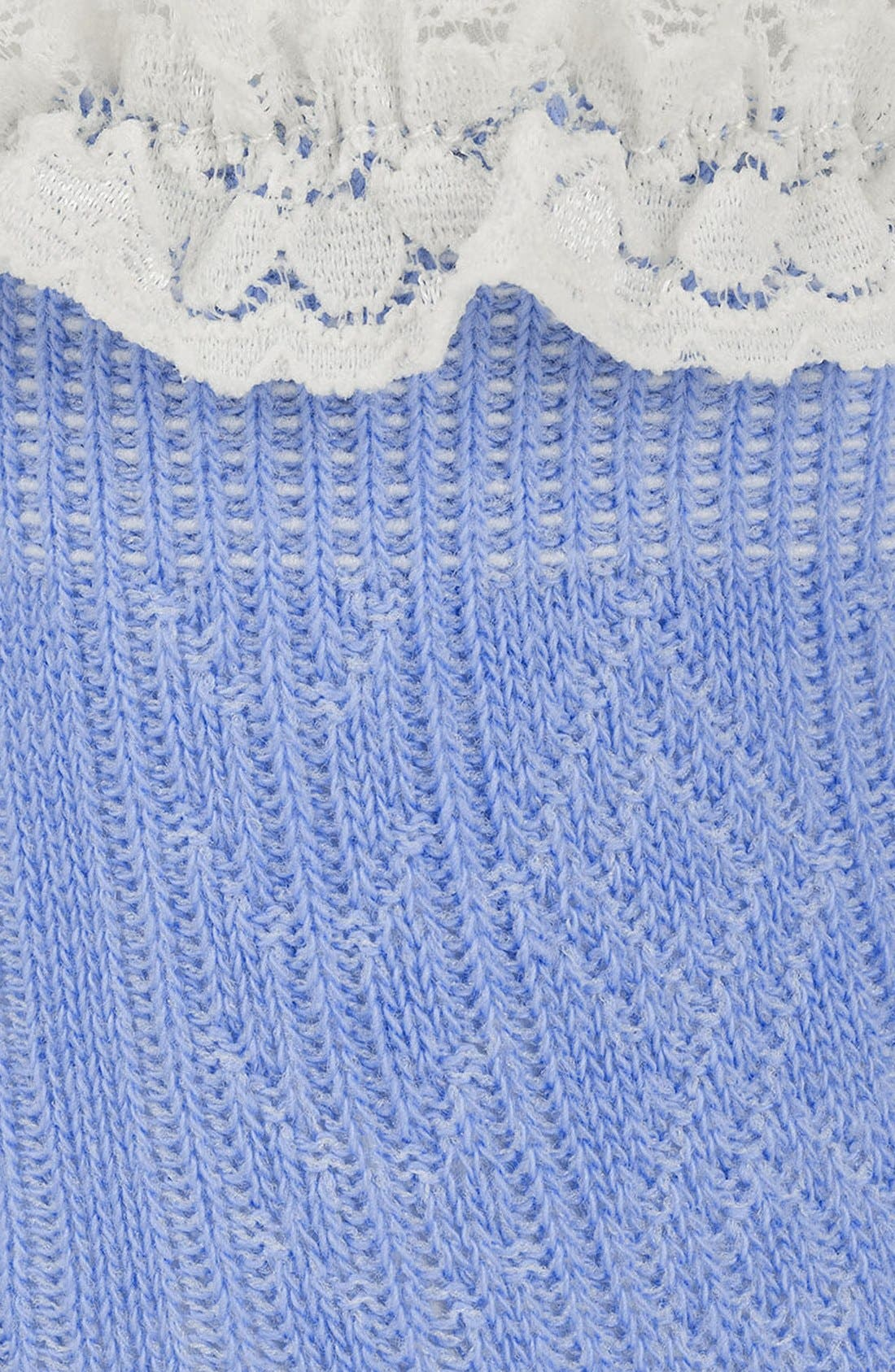 Lace Trim Ankle Socks,                             Alternate thumbnail 35, color,