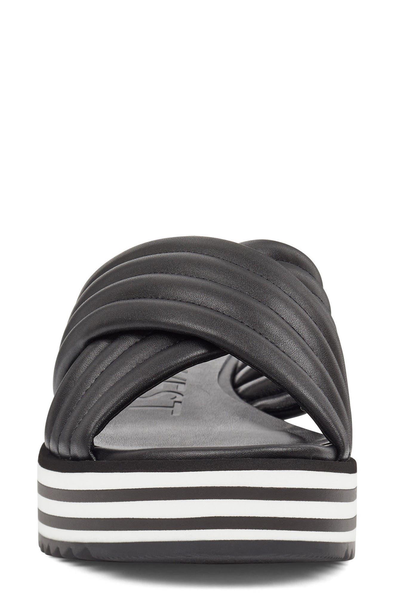 Zonita Platform Slide Sandal,                             Alternate thumbnail 4, color,                             001