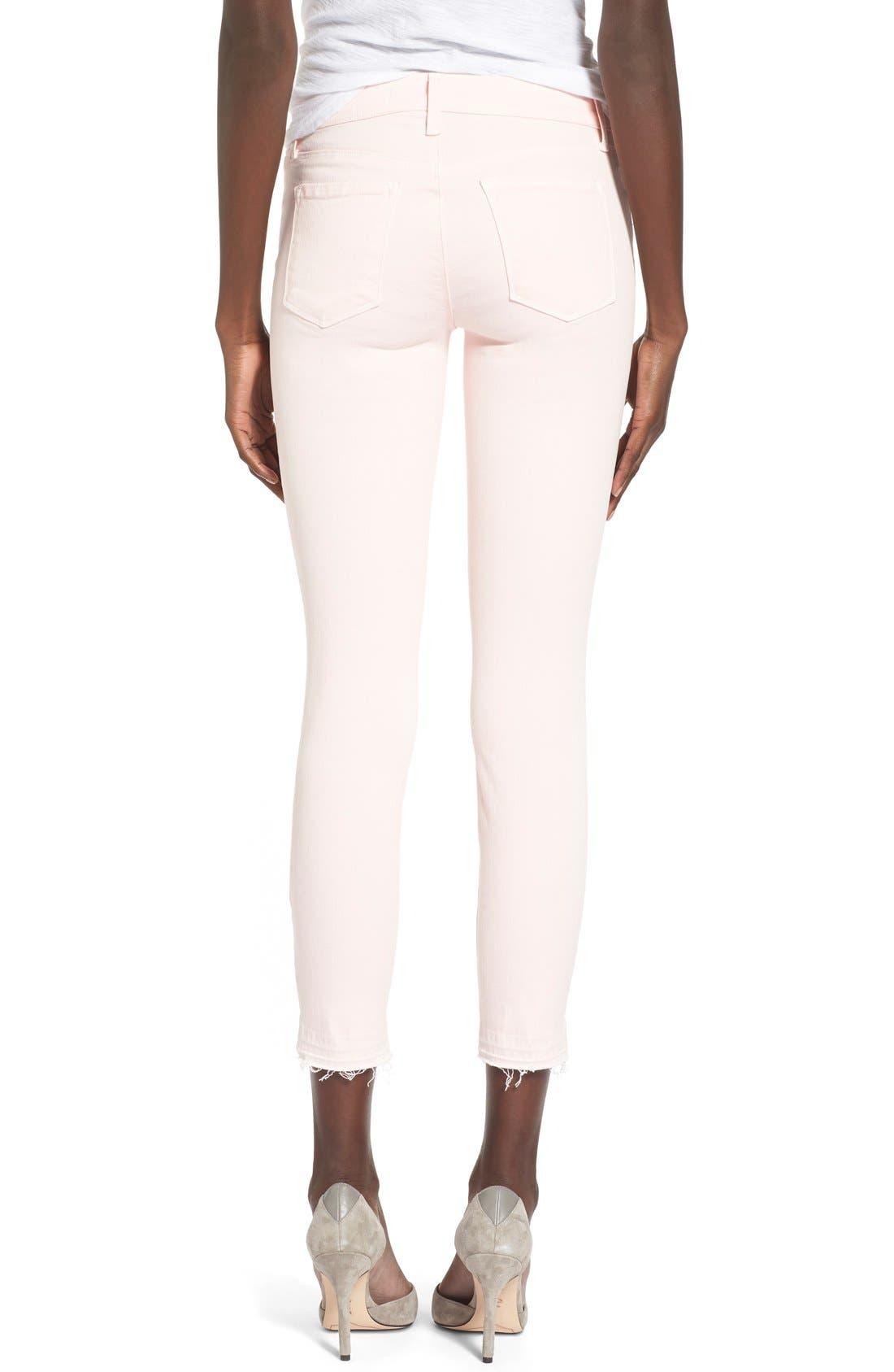 J BRAND,                             'Little Pink Jean' Low RiseCropSkinny Jeans,                             Alternate thumbnail 6, color,                             650