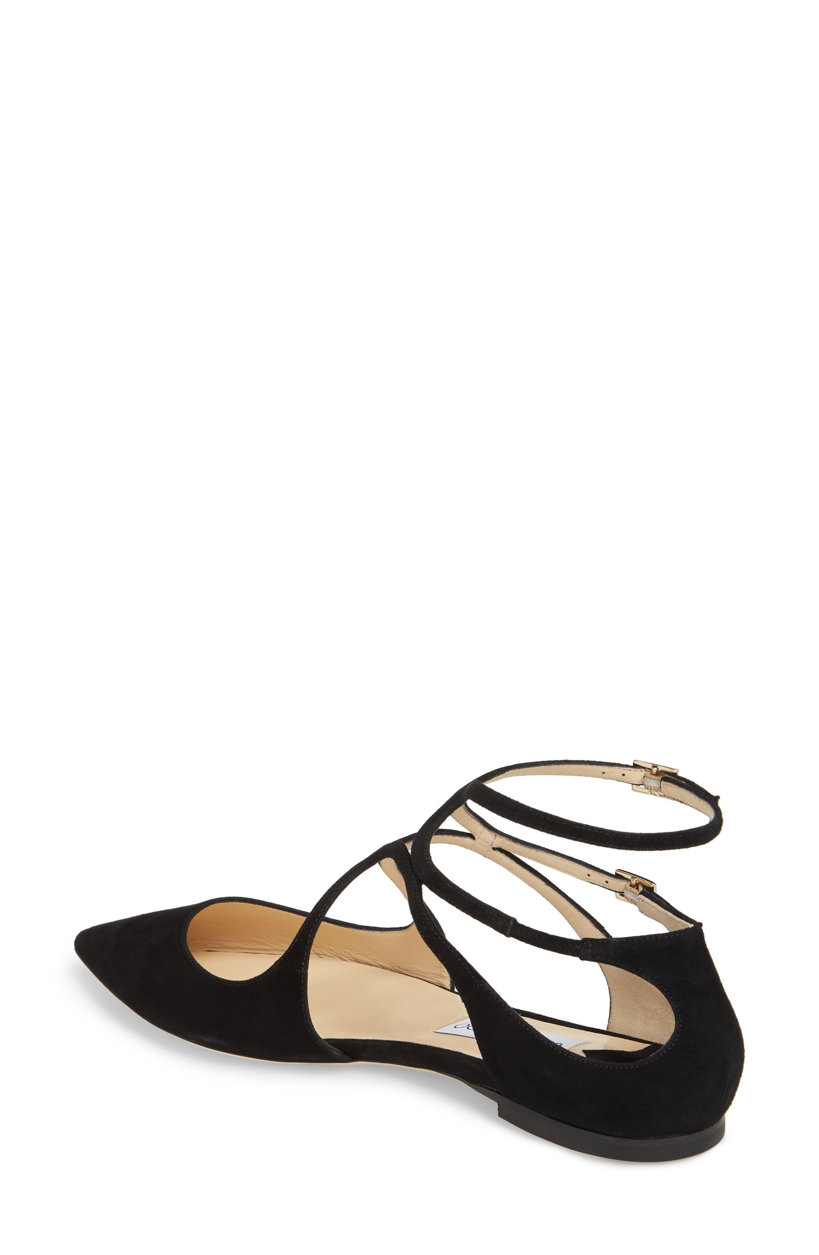 Lancer Ankle Strap Flat,                             Alternate thumbnail 2, color,                             BLACK