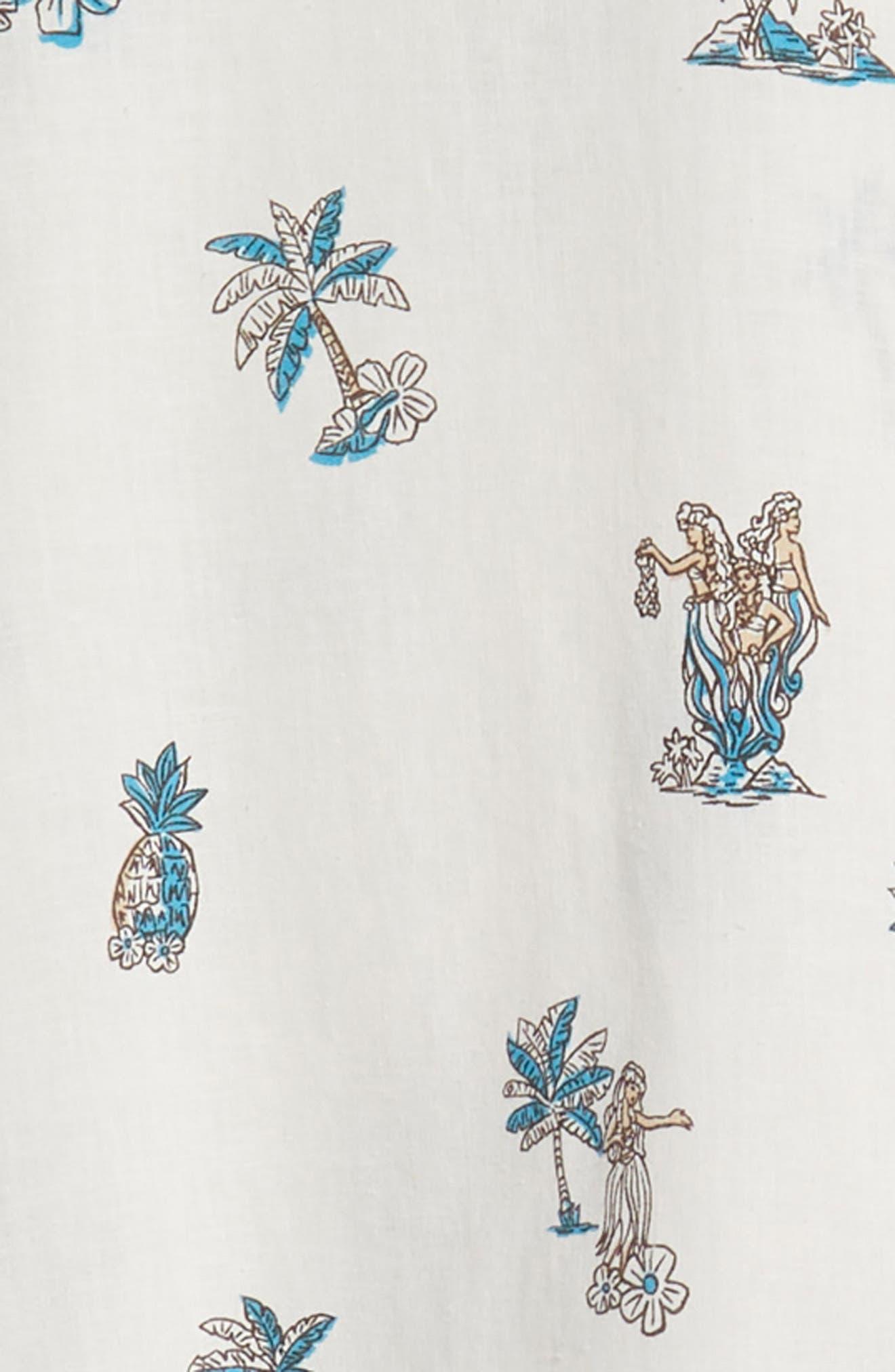 Moku Iki Classic Fit Linen & Cotton Sport Shirt,                             Alternate thumbnail 6, color,                             102