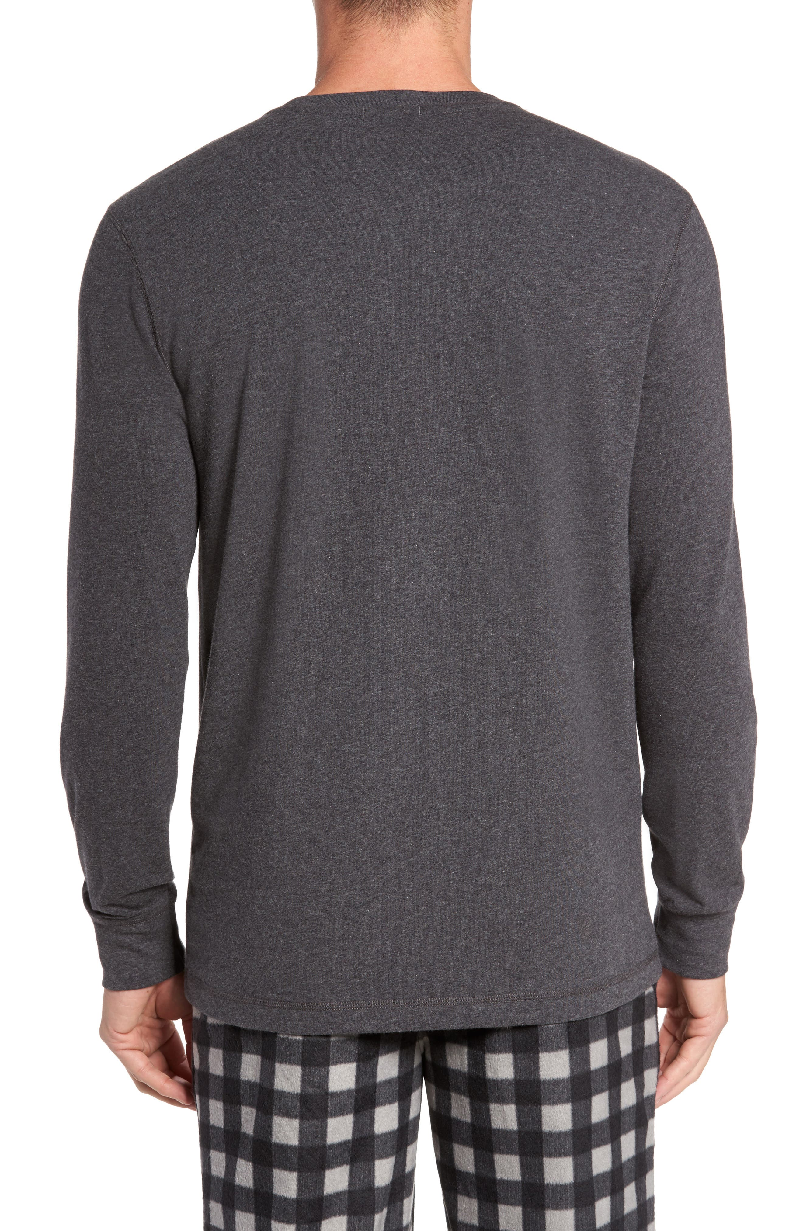 Stretch Cotton Long Sleeve T-Shirt,                             Alternate thumbnail 6, color,