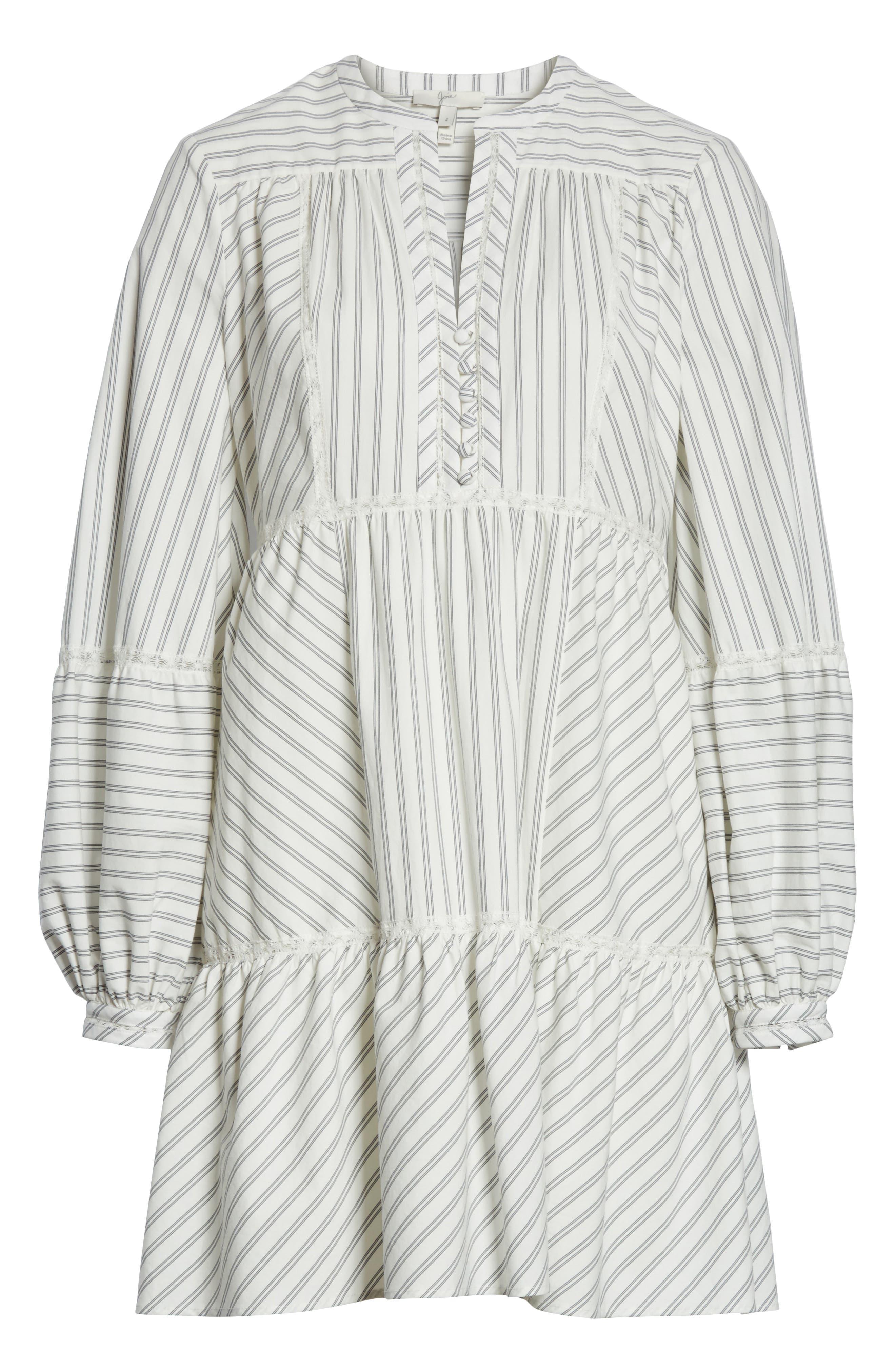 Marison Stripe A-Line Dress,                             Alternate thumbnail 6, color,                             120