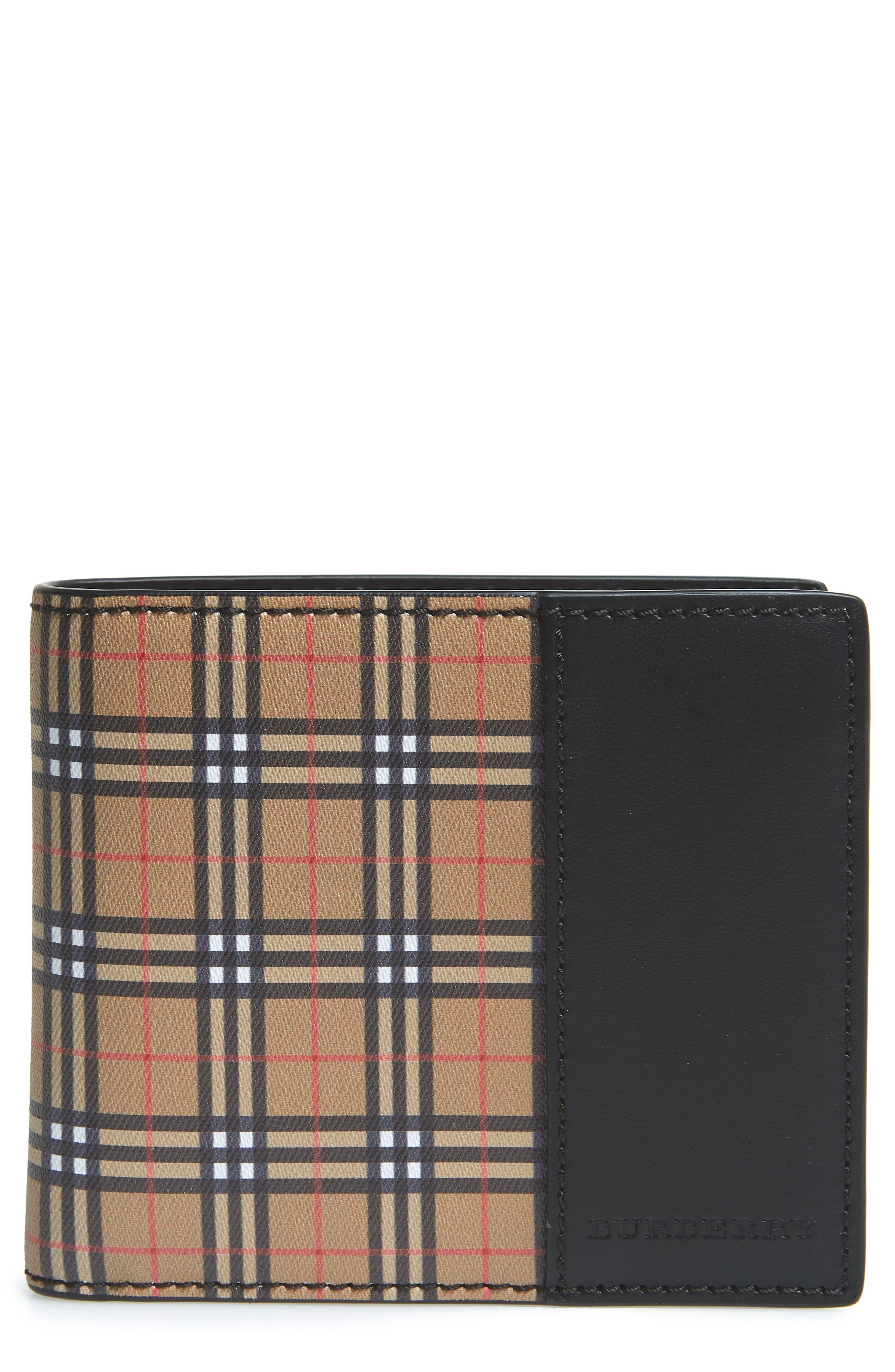 BURBERRY,                             Wallet,                             Main thumbnail 1, color,                             ANTIQUE YELLOW/ BLACK