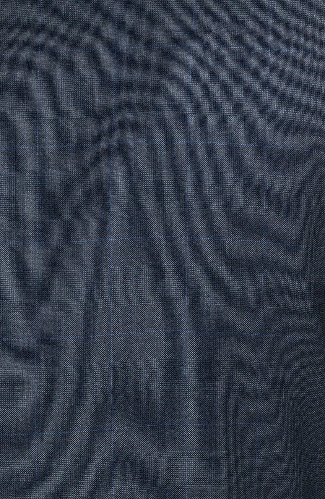 PETER MILLAR,                             Classic Fit Navy Windowpane Suit,                             Alternate thumbnail 6, color,                             410