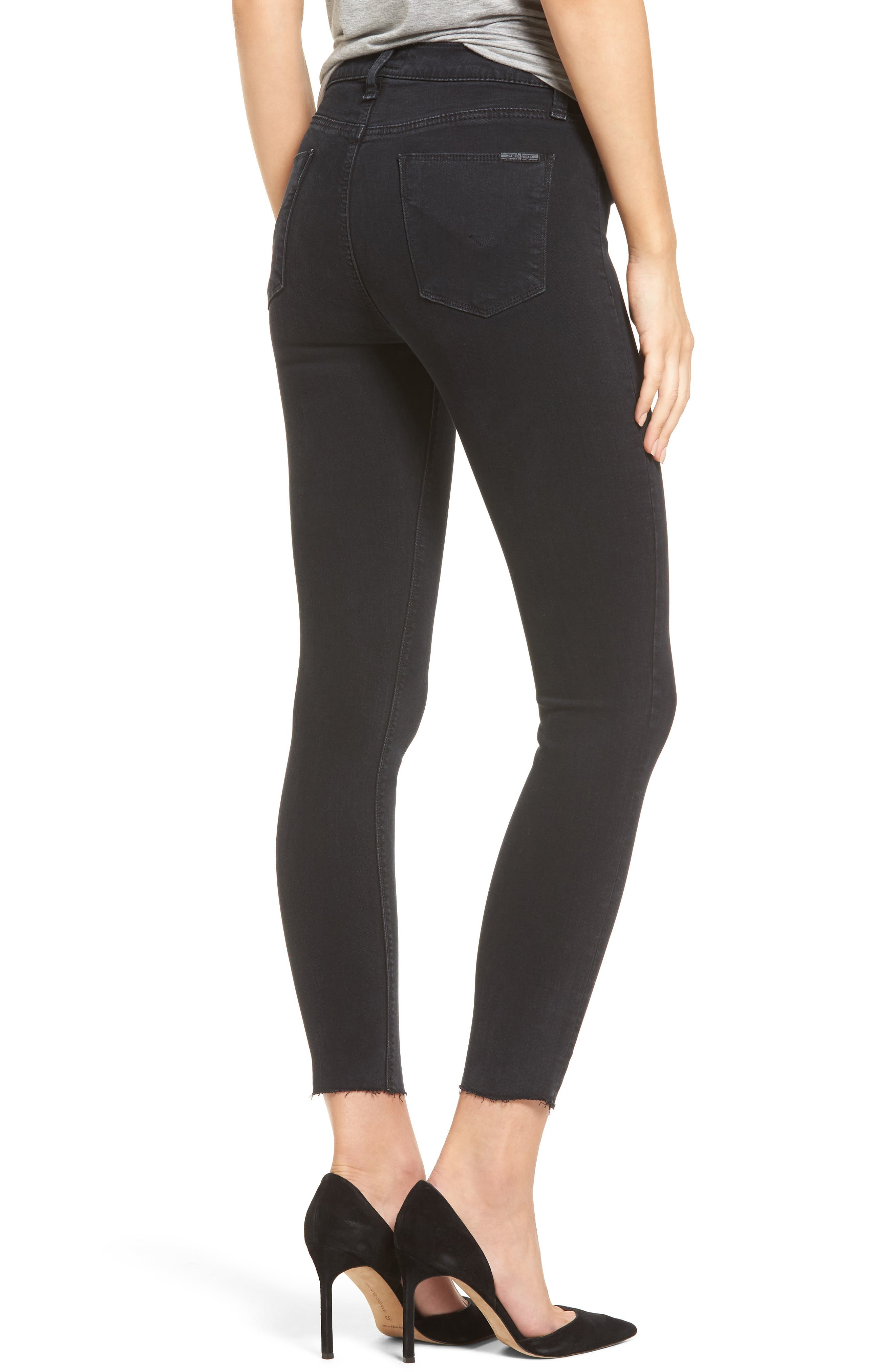 Barbara High Waist Ankle Skinny Jeans,                             Alternate thumbnail 2, color,                             001