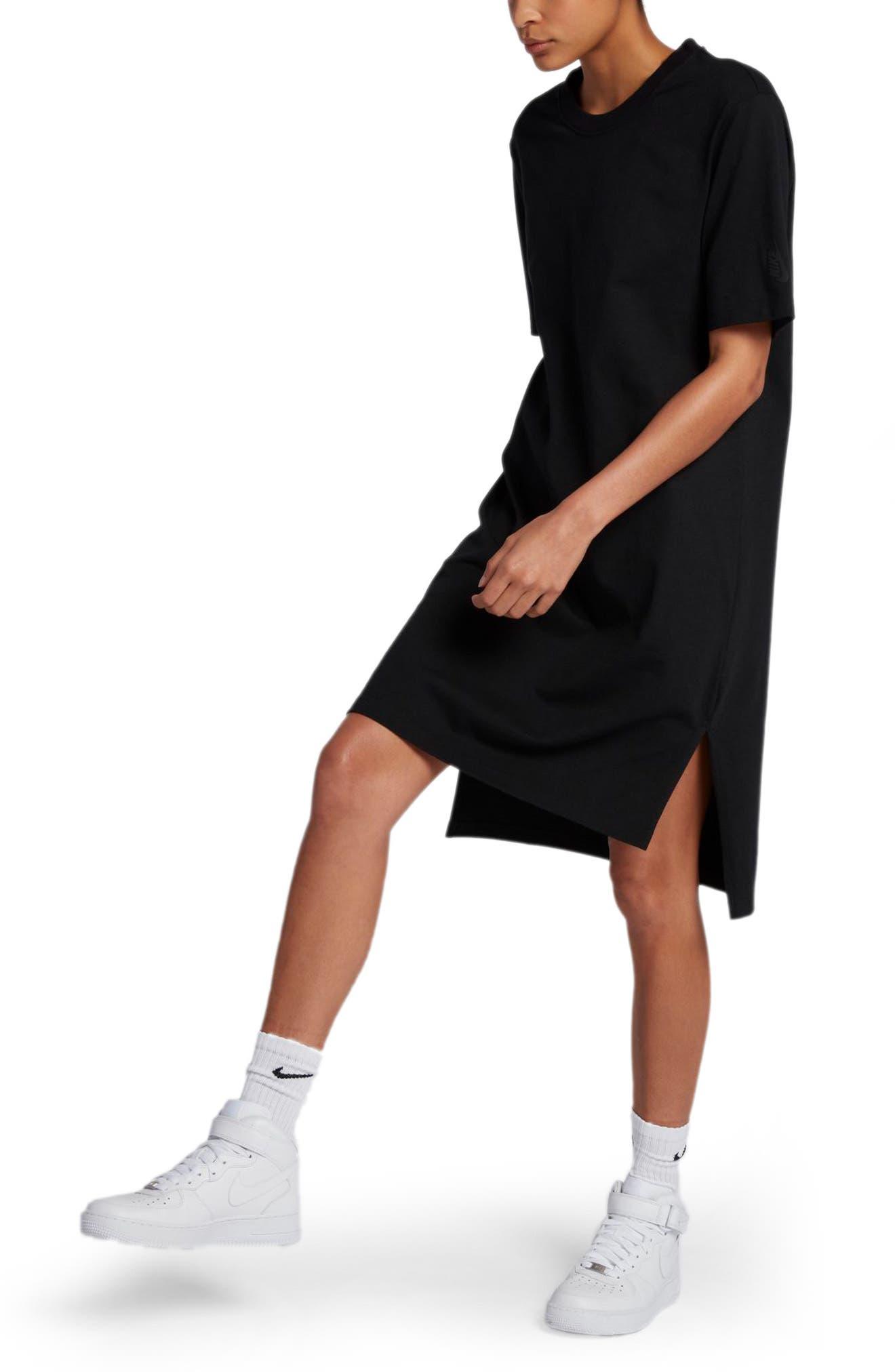NikeLab Essentials T-Shirt Dress,                             Main thumbnail 1, color,                             010