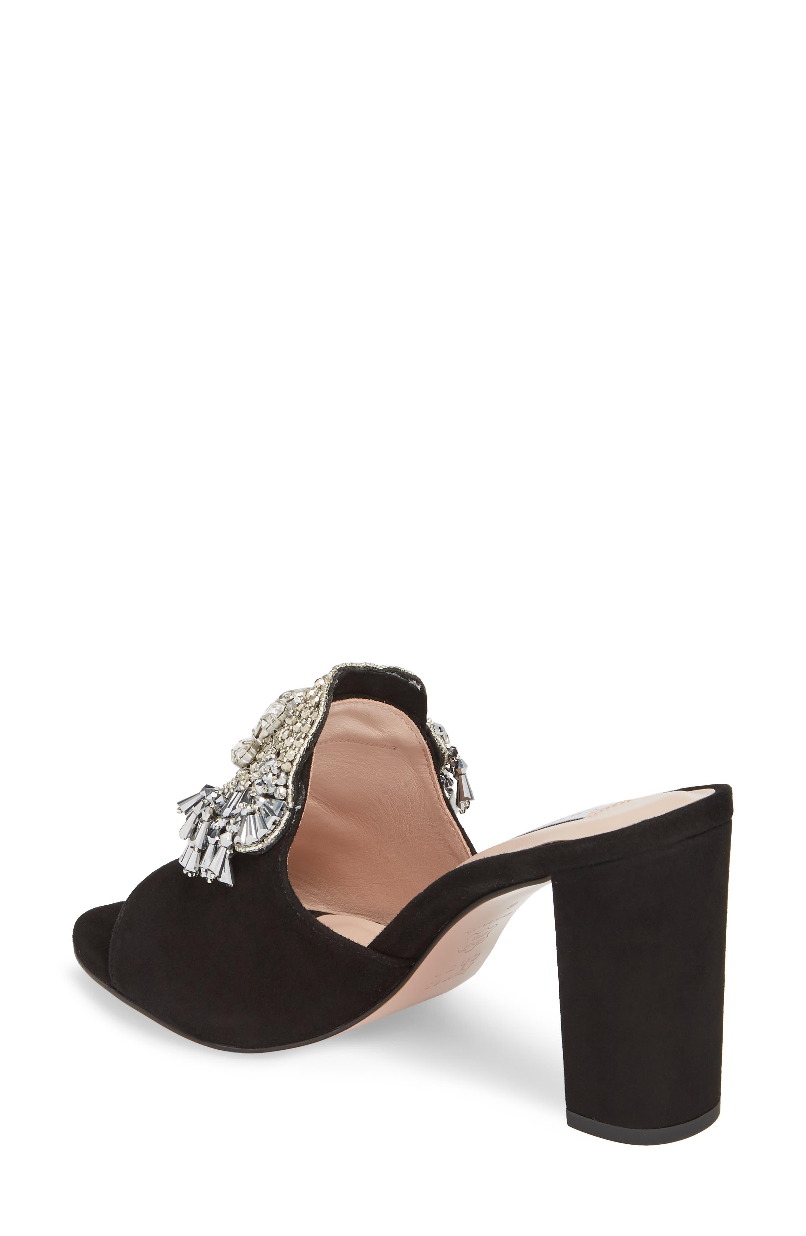 Adele Embellished Block Heel Sandal,                             Alternate thumbnail 2, color,                             001