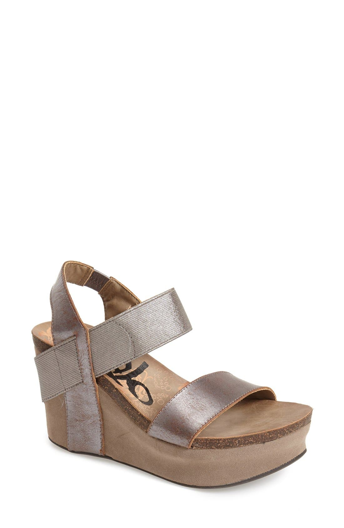 'Bushnell' Wedge Sandal,                             Main thumbnail 5, color,