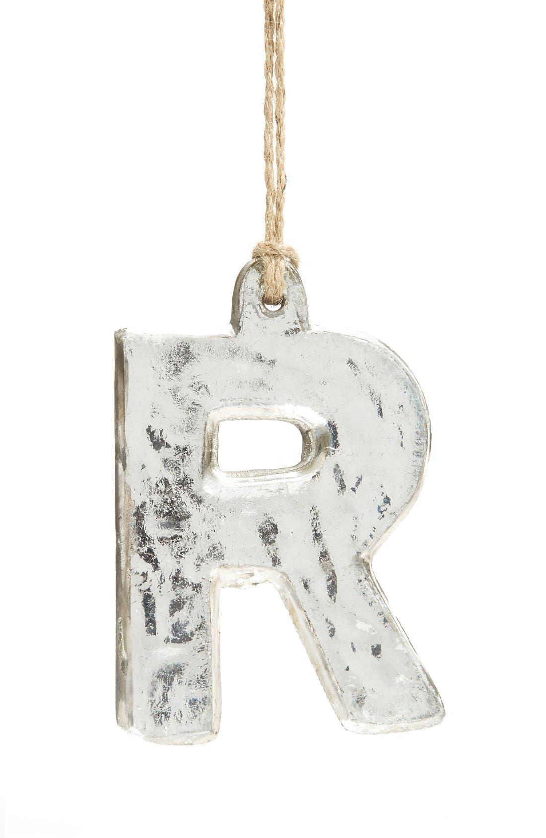 Handblown Glass Alphabet Ornament,                             Main thumbnail 7, color,
