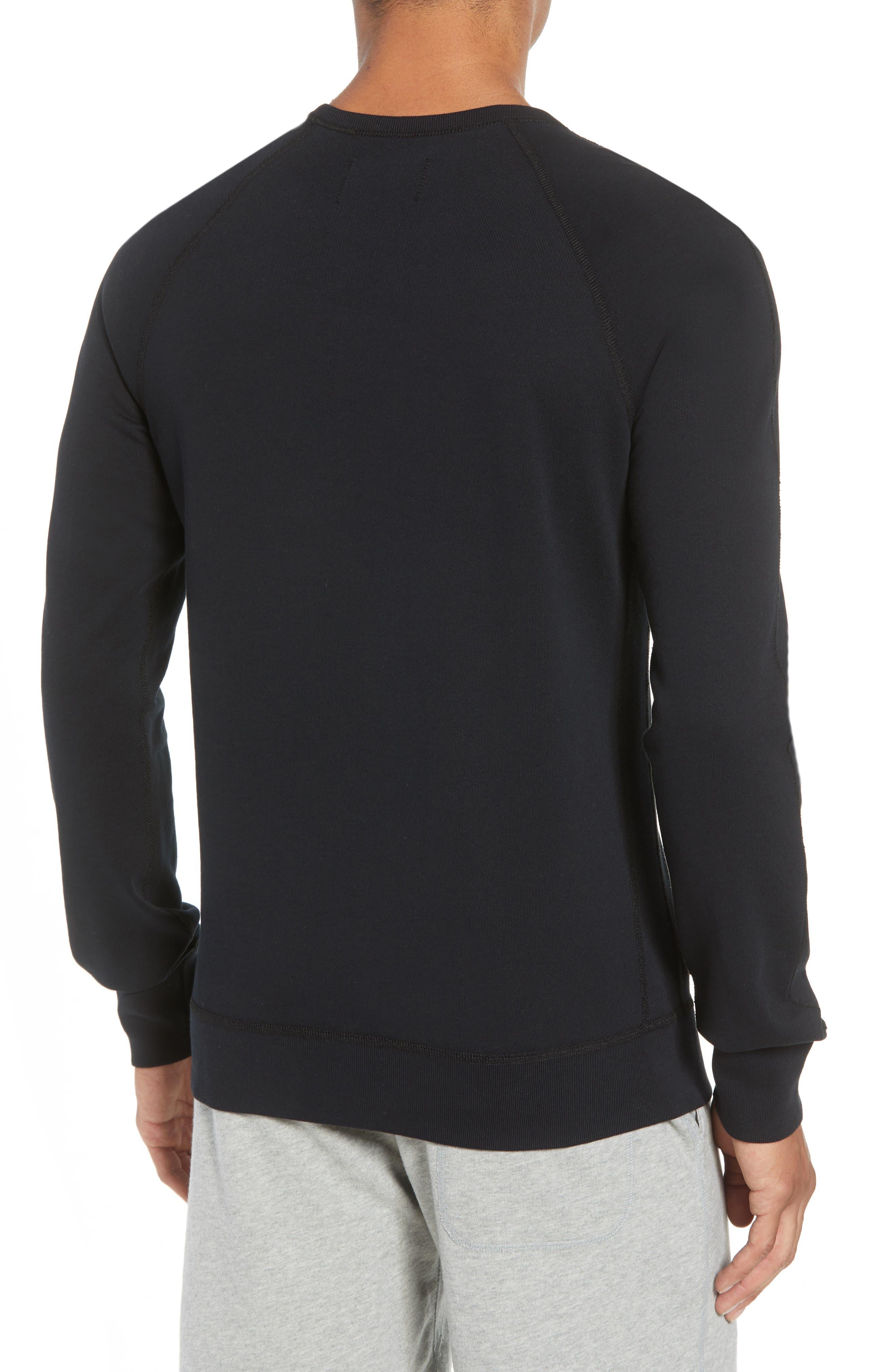 Lightweight Classic Fit Sweatshirt,                             Alternate thumbnail 2, color,                             BLACK