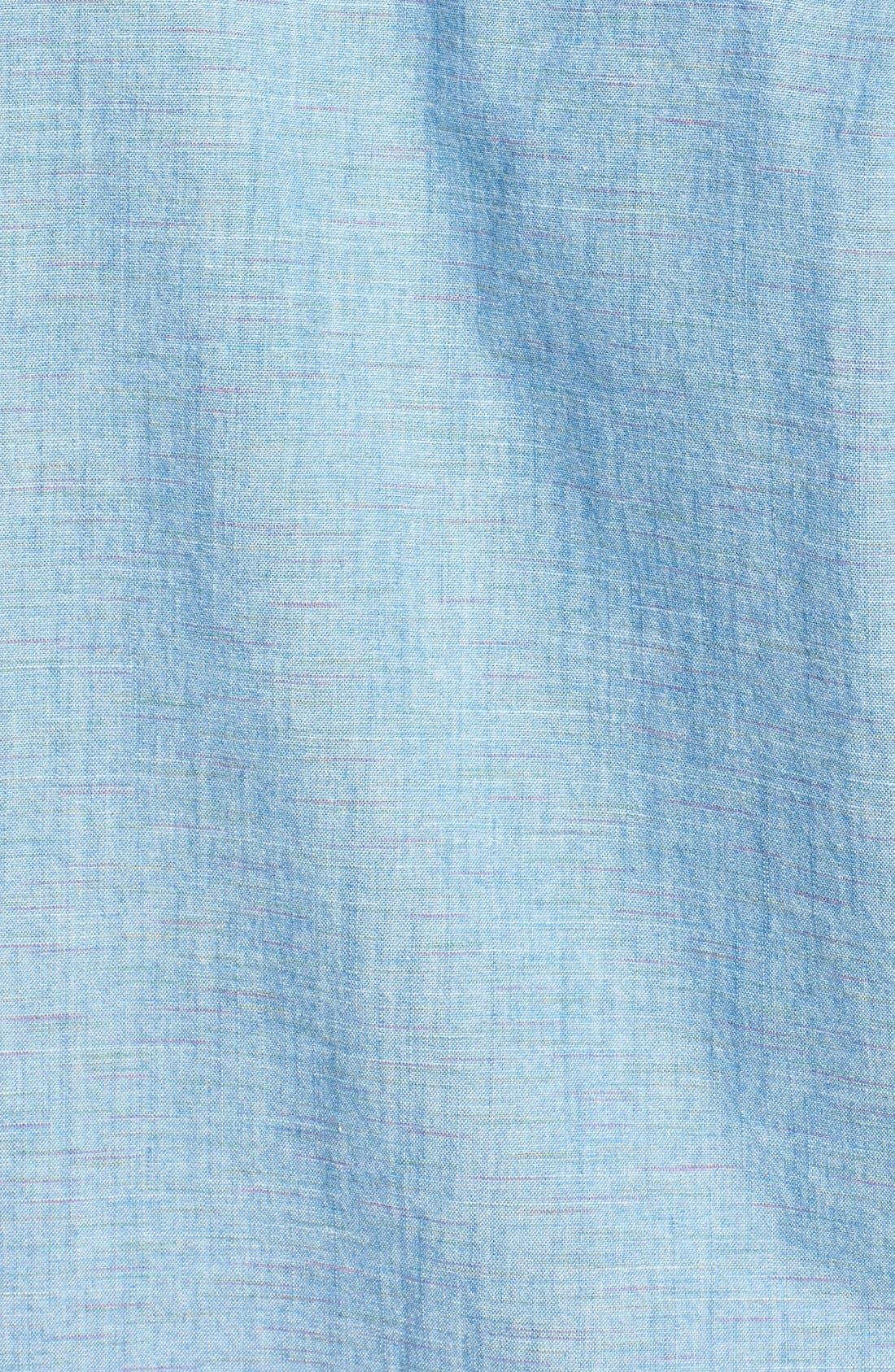 55DSL,                             'Stendard 55' Chest Stripe Print Woven Shirt,                             Alternate thumbnail 3, color,                             400