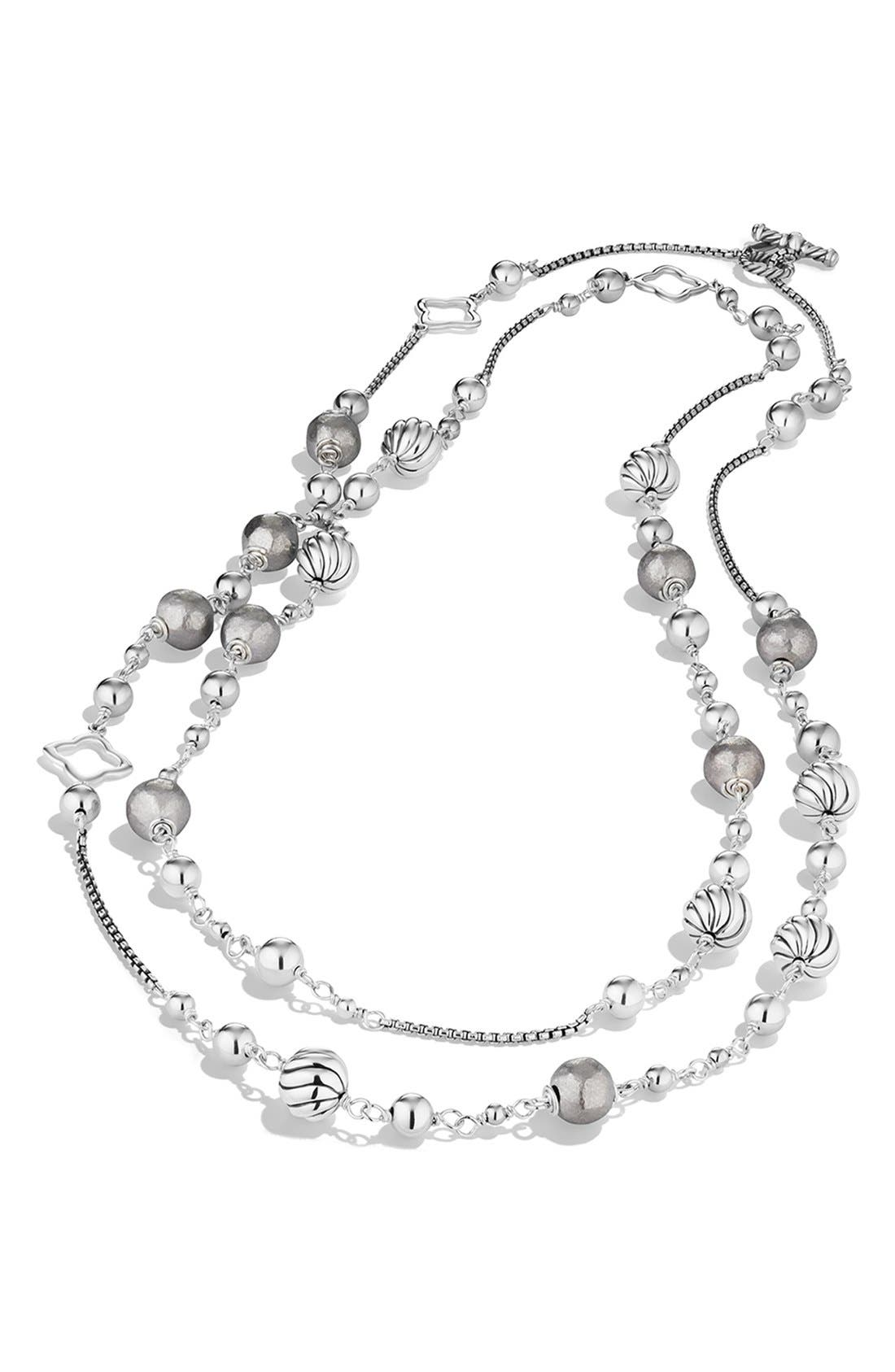'DY Elements' Chain Necklace,                             Alternate thumbnail 2, color,                             SILVER