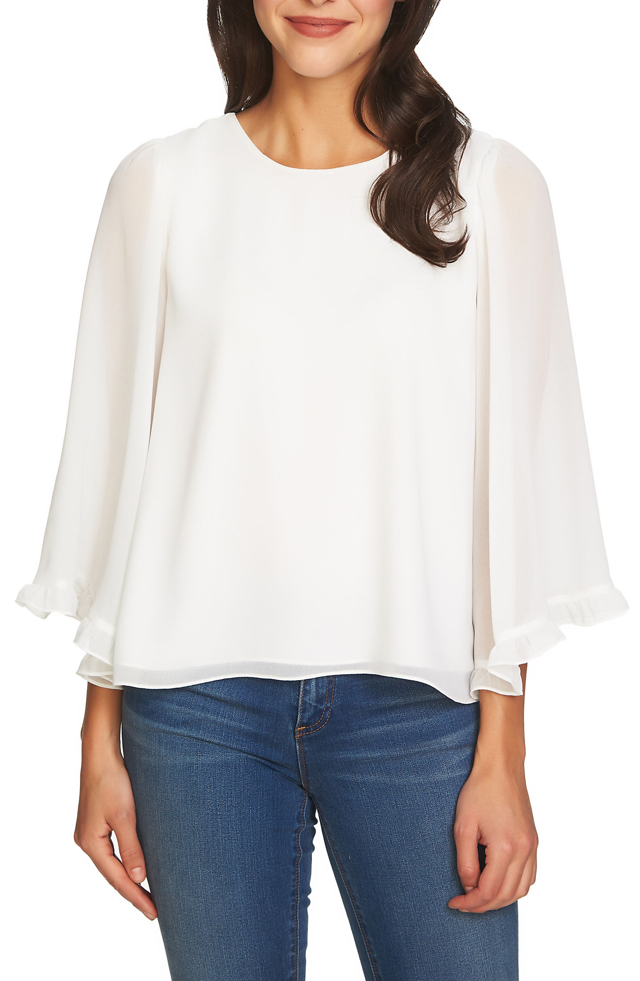 Bell Sleeve Blouse,                         Main,                         color, 108