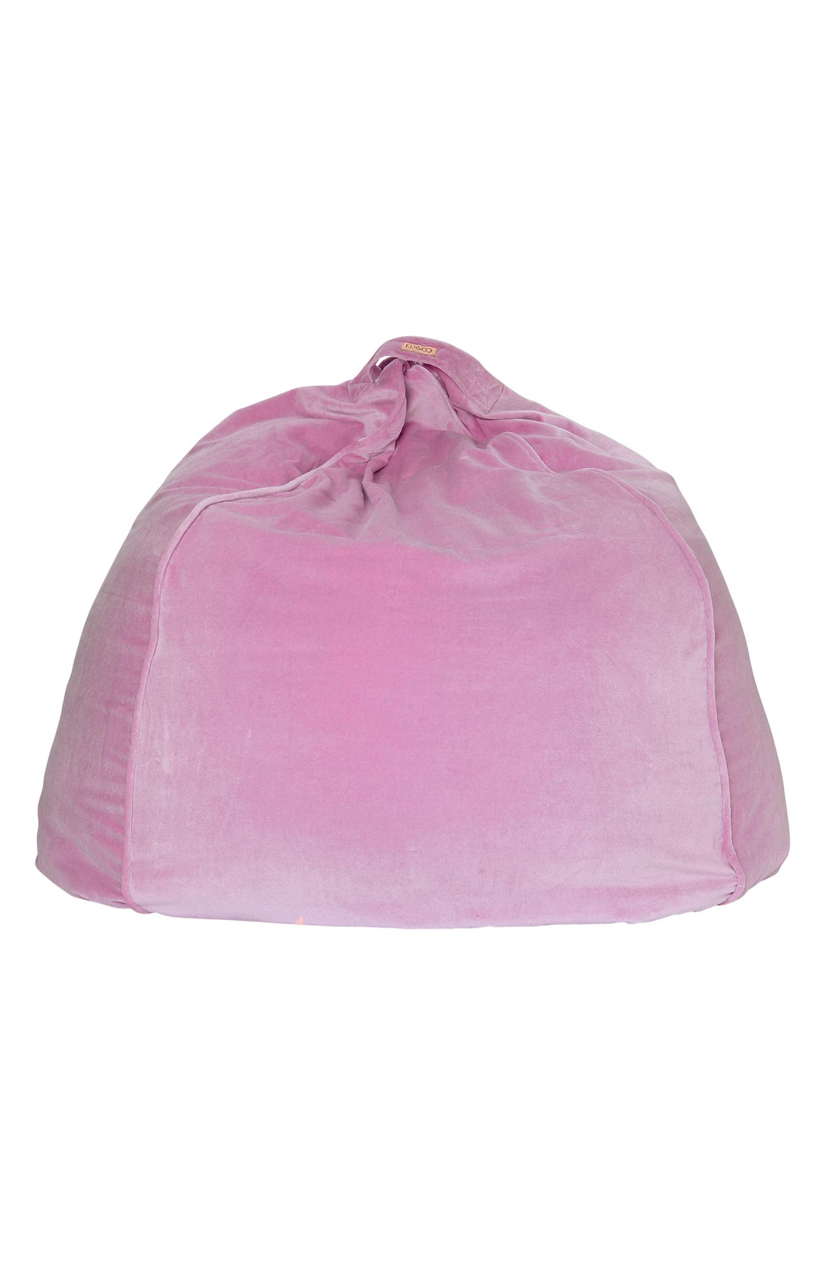 Velvet Beanbag Cover,                         Main,                         color, MULTI