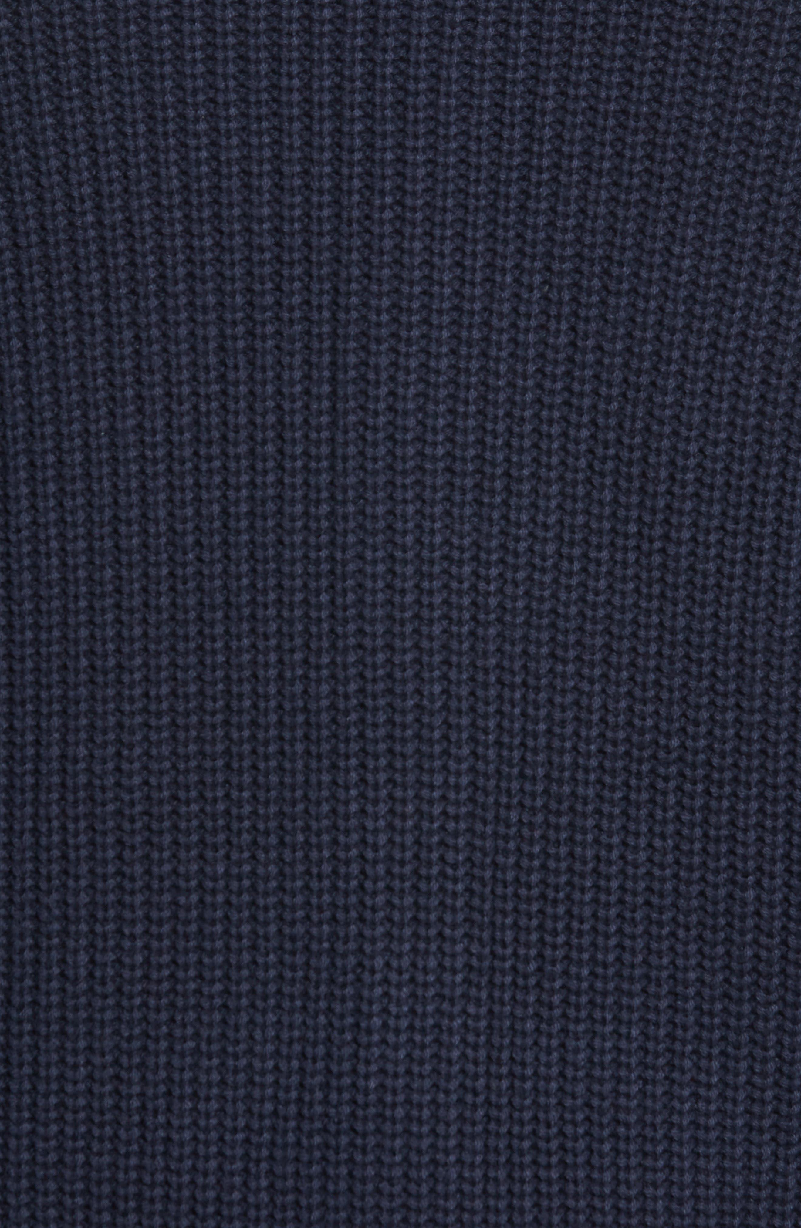 Chunky Rib Shawl Collar Cardigan,                             Alternate thumbnail 5, color,                             NAVY NIGHT