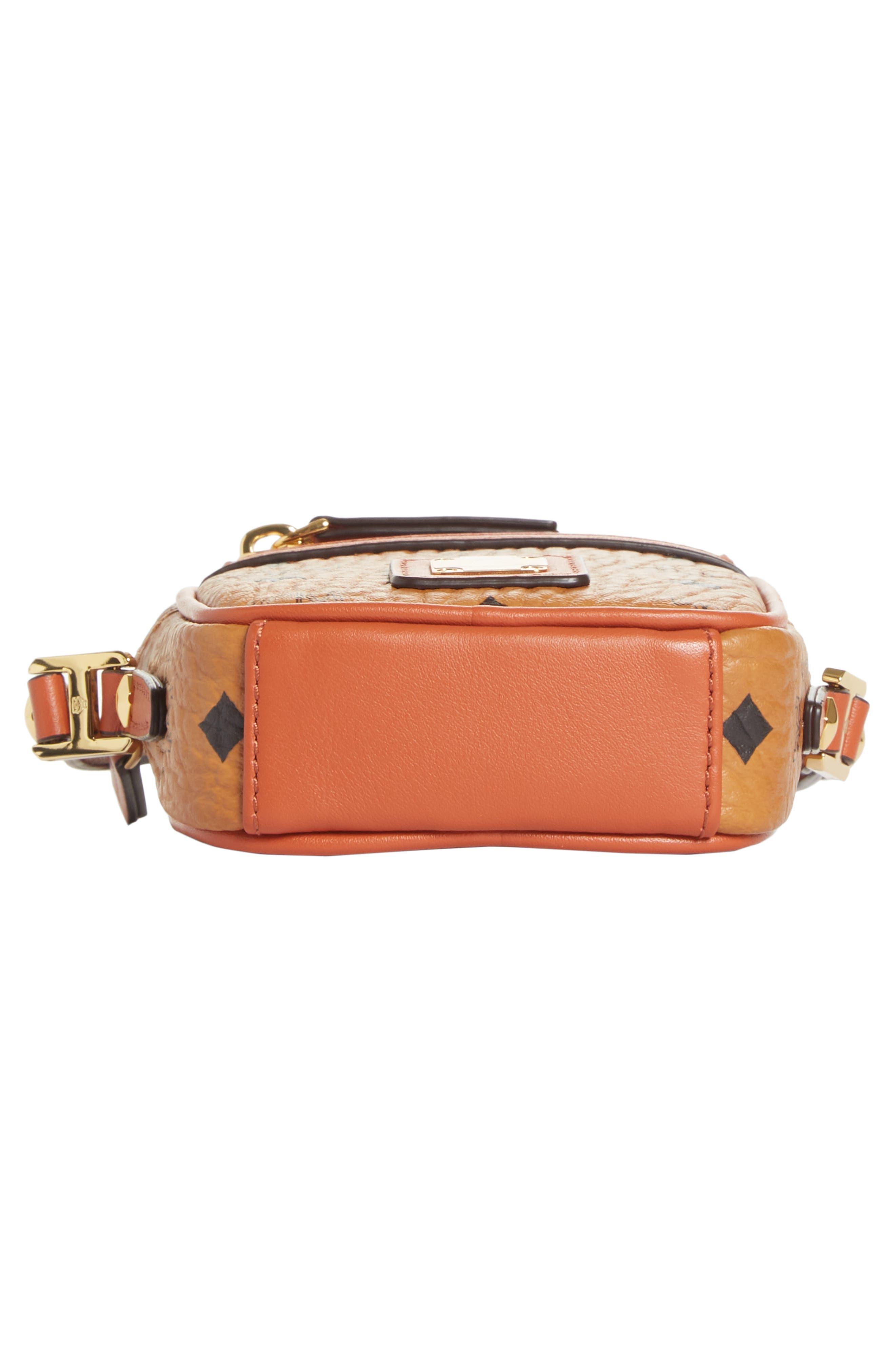 Mini Vintage Crossbody Bag,                             Alternate thumbnail 6, color,                             COGNAC