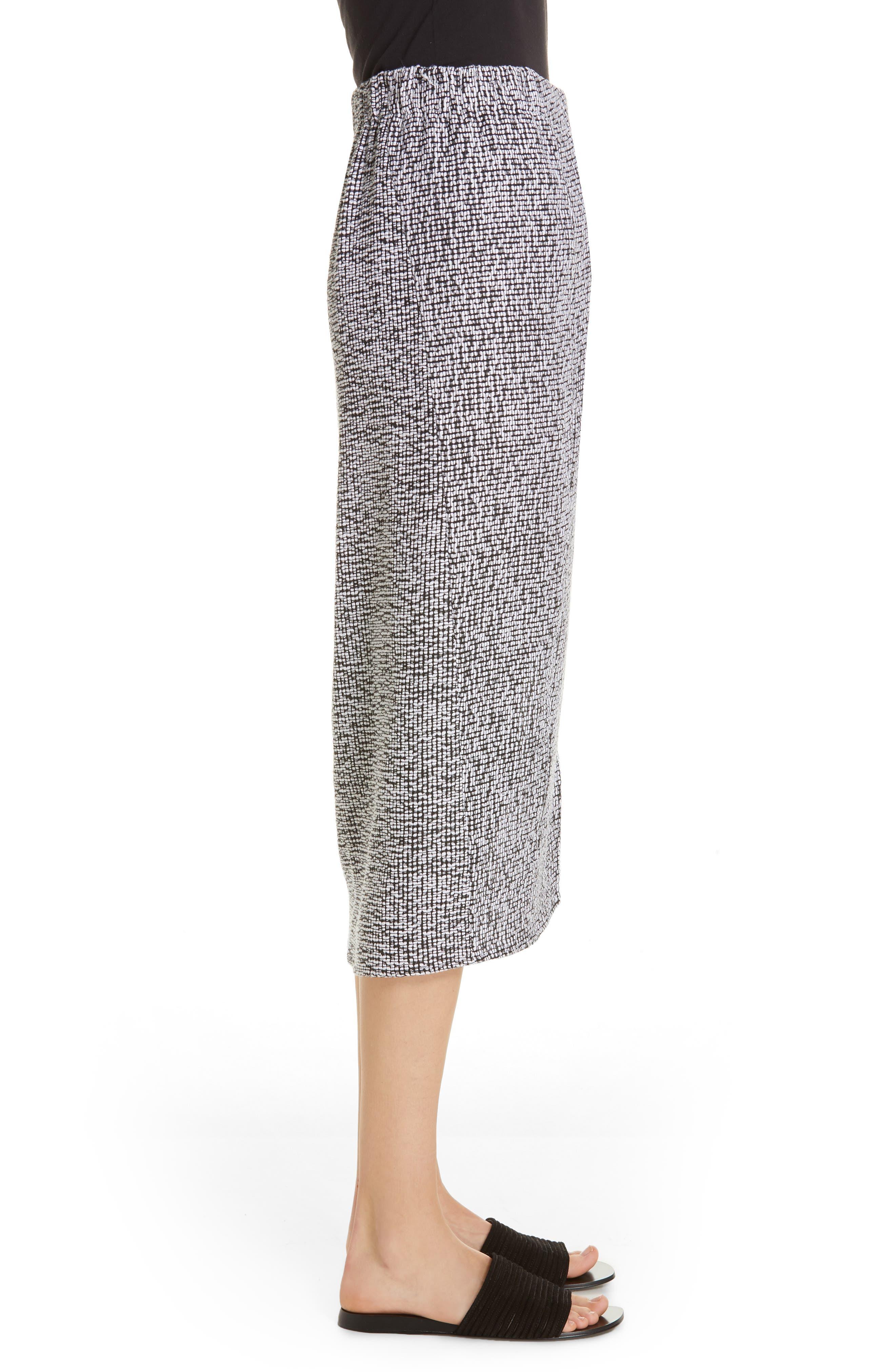 Mio Skirt,                             Alternate thumbnail 3, color,                             WHITE/ BLACK