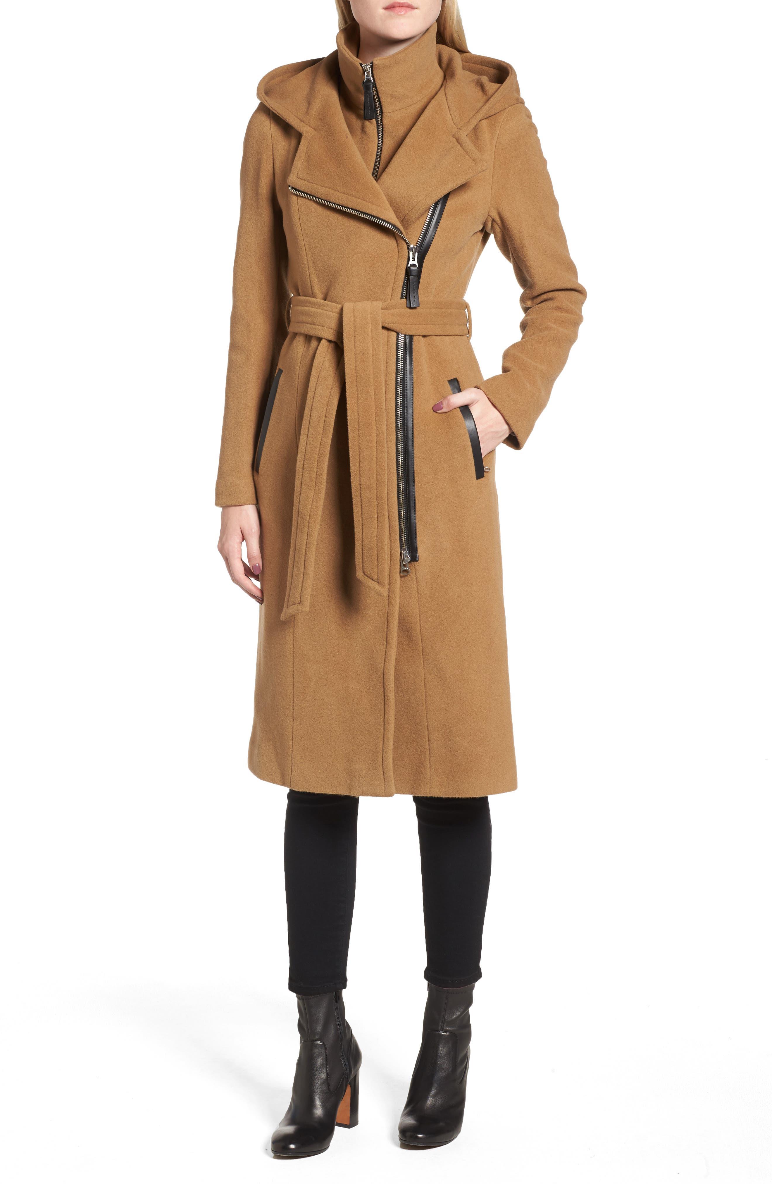 Janya Wool Blend Coat,                             Main thumbnail 1, color,                             253