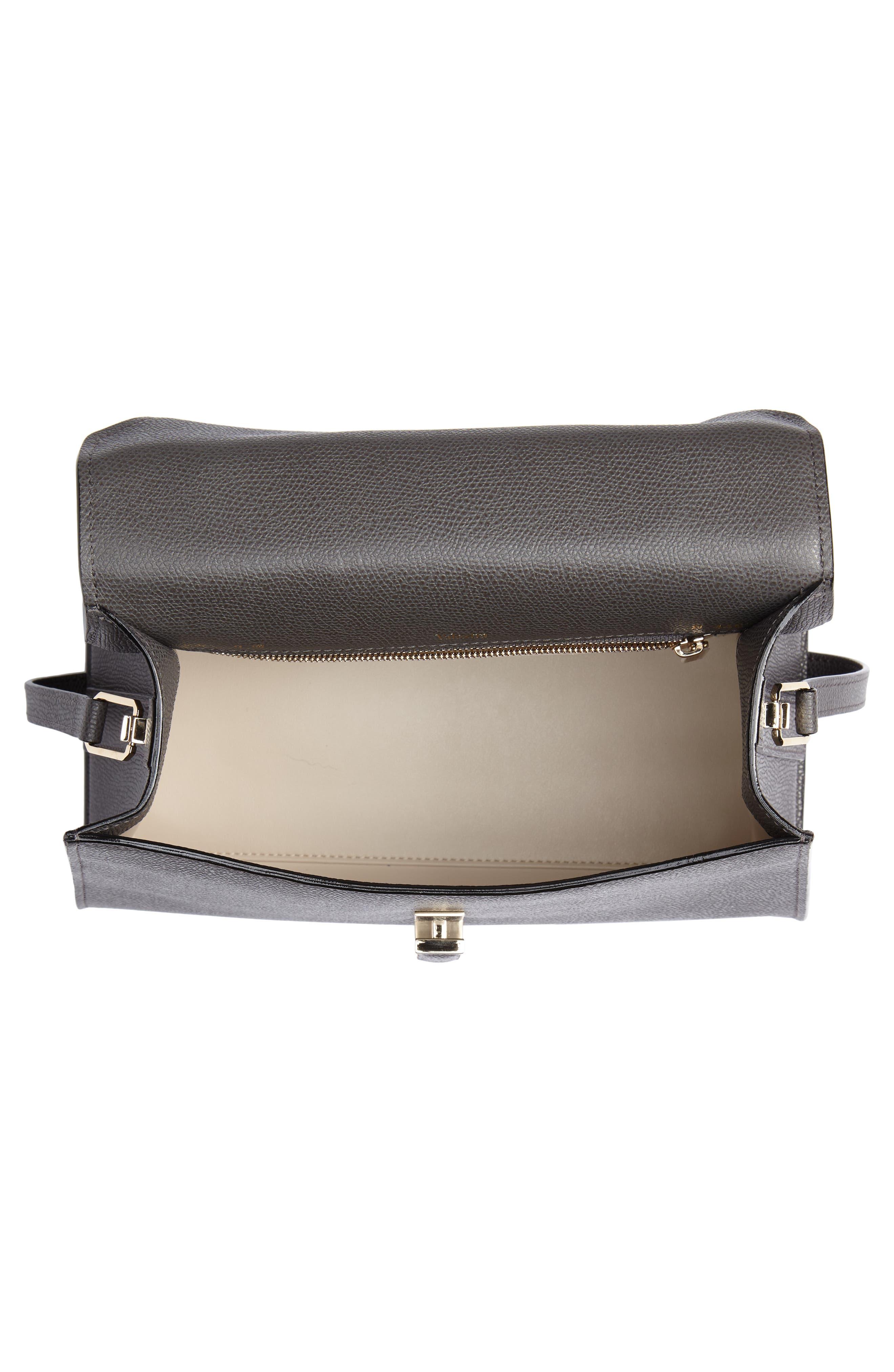 Iside Medium Top Handle Bag,                             Alternate thumbnail 4, color,                             FUMO DI LONDRA