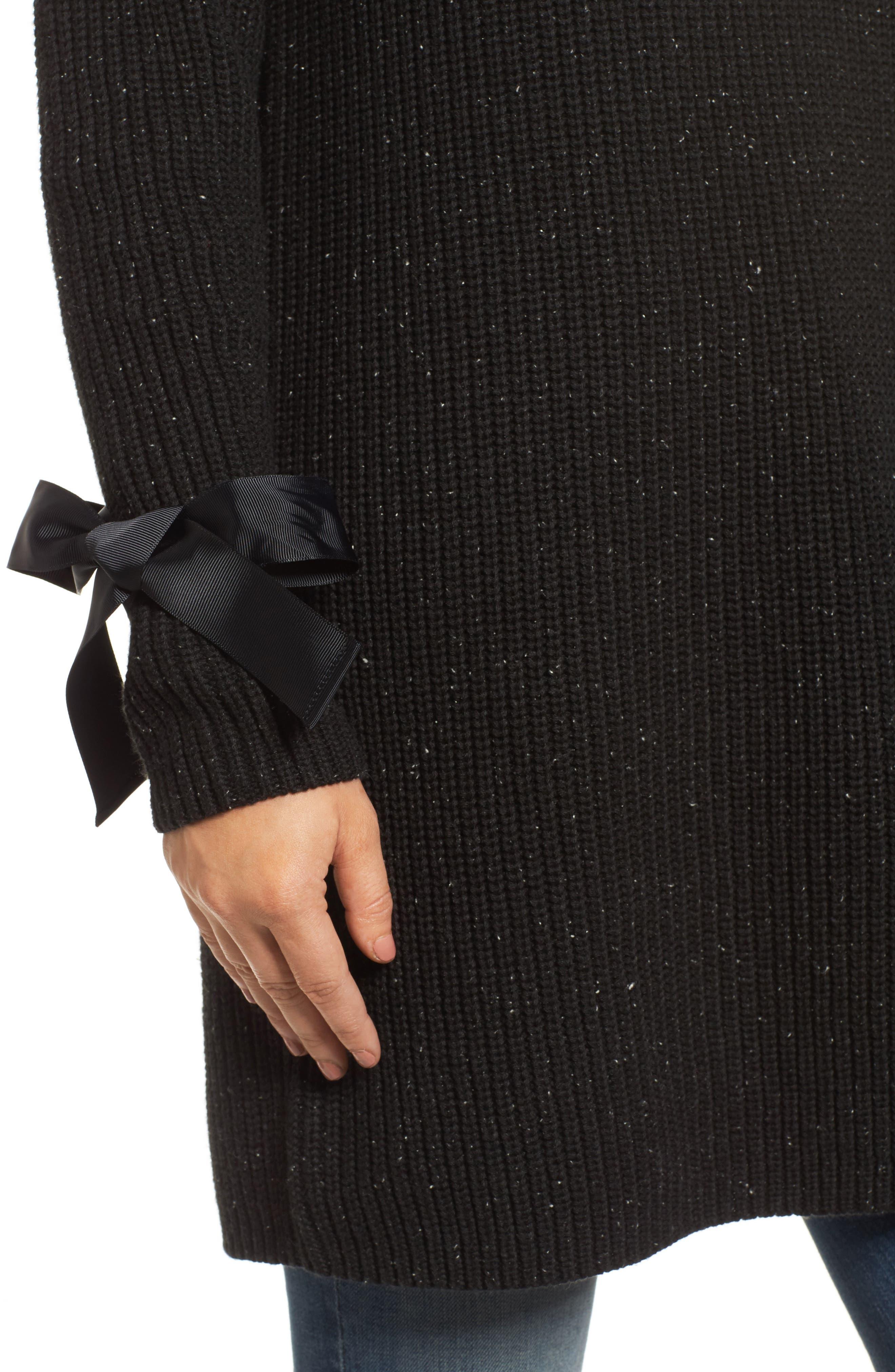 Bow Sleeve Tunic,                             Alternate thumbnail 4, color,                             001