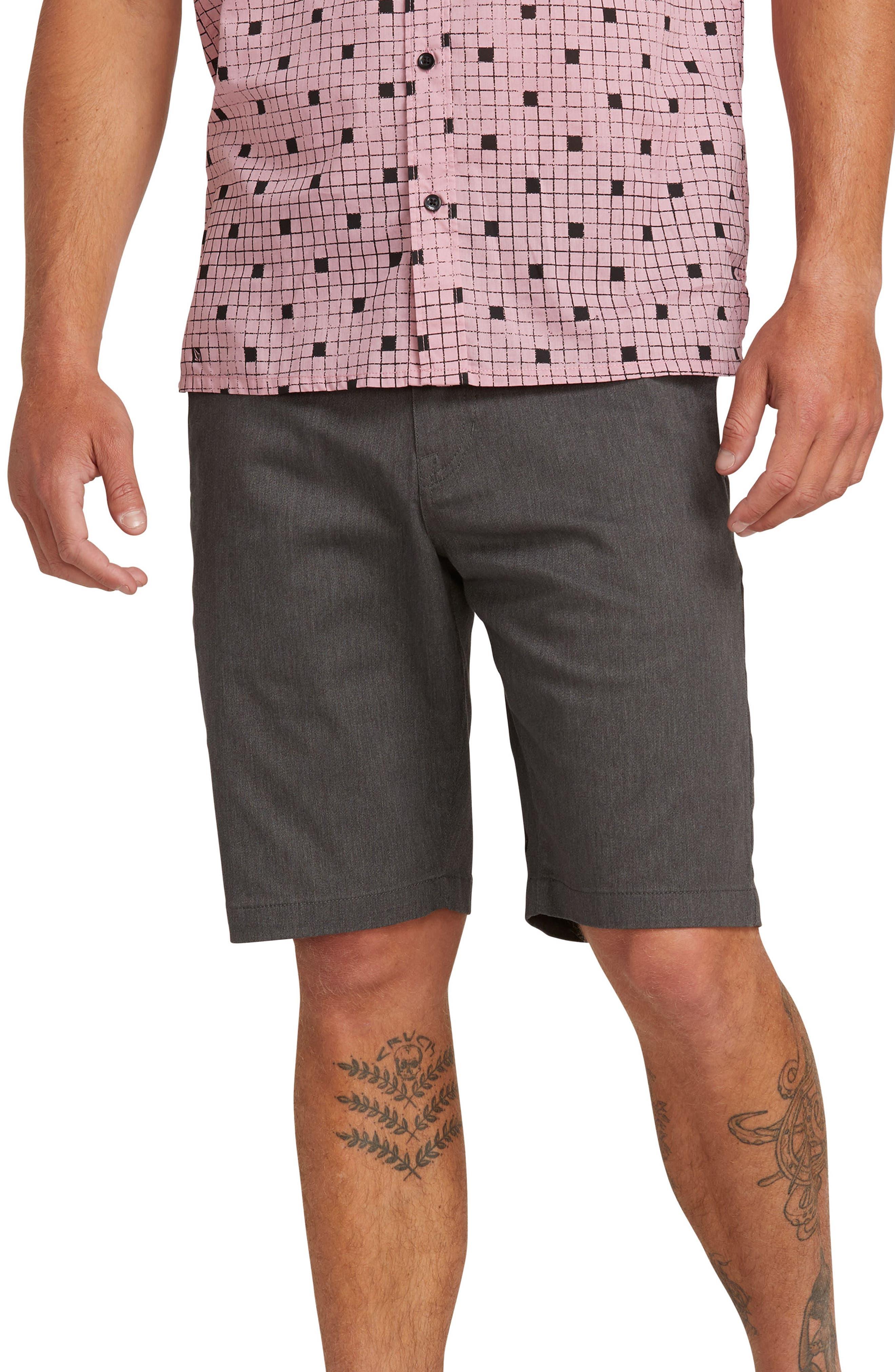 VOLCOM 'Modern' Stretch Chino Shorts, Main, color, 021