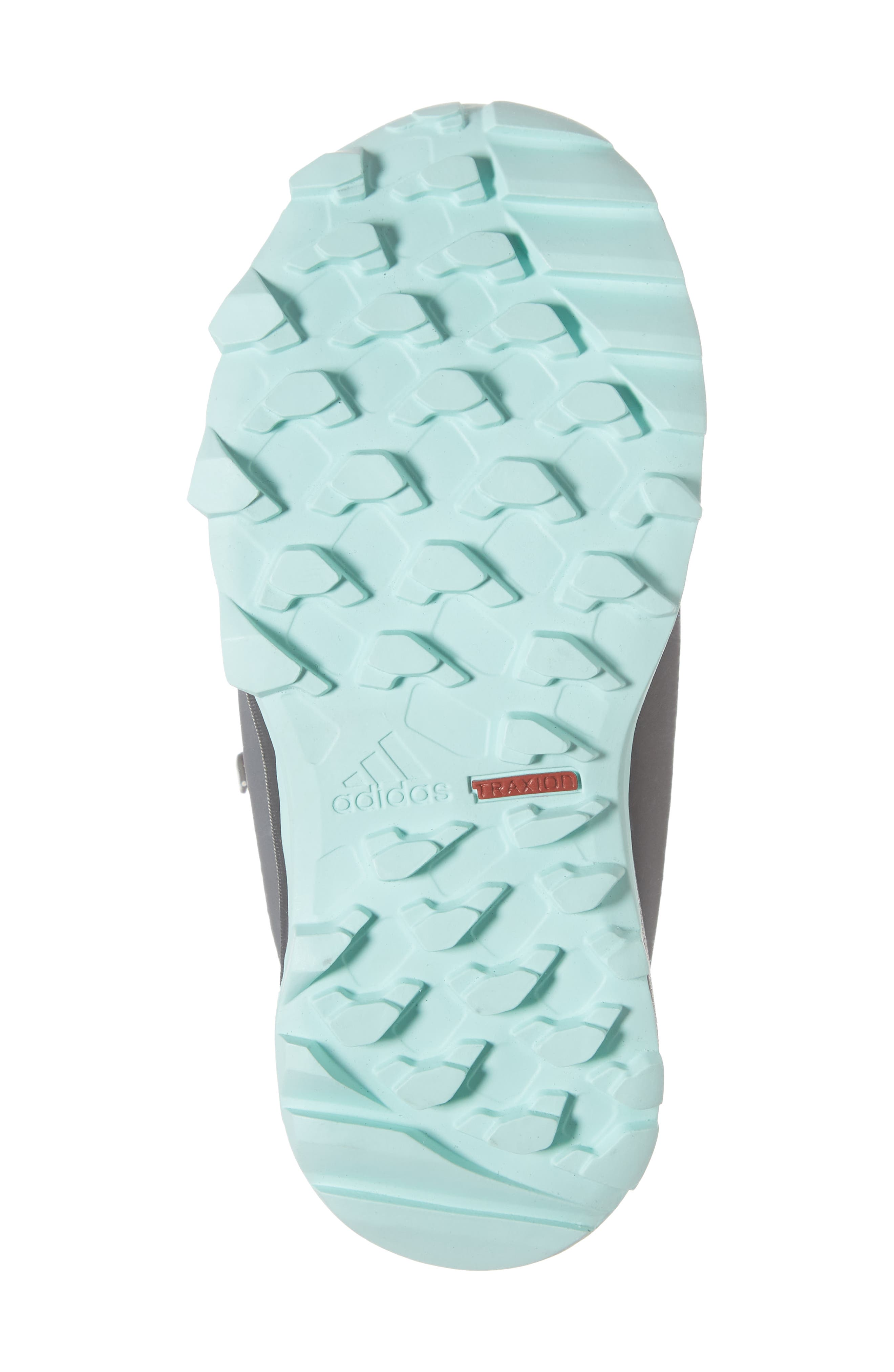 Terrex Snow CP CW Insulated Waterproof Sneaker Boot,                             Alternate thumbnail 6, color,                             CLEAR MINT/ CARBON/ AQUA