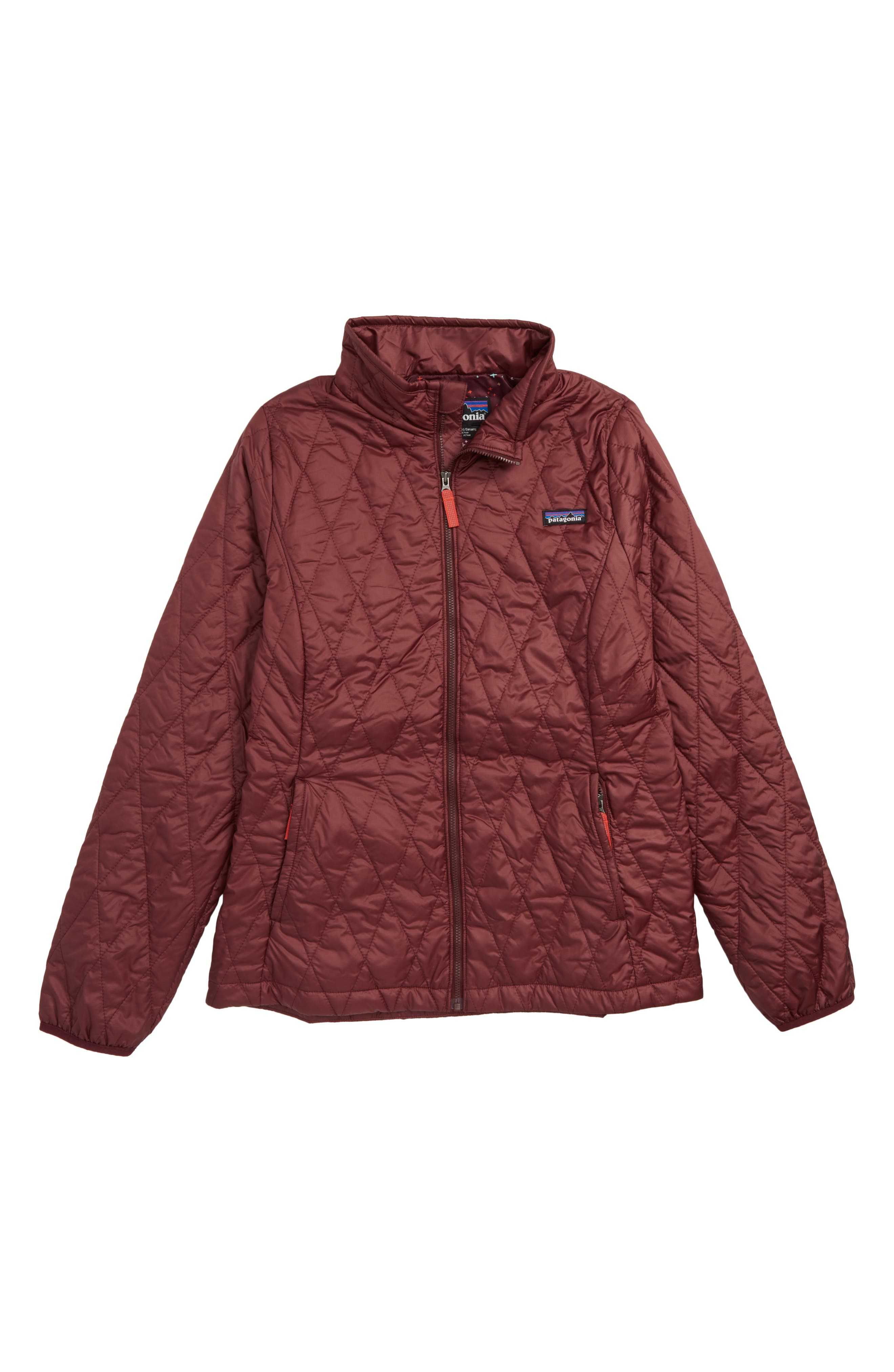 Nano Puff<sup>®</sup> Quilted Water Resistant Jacket, Main, color, DARK CURRANT