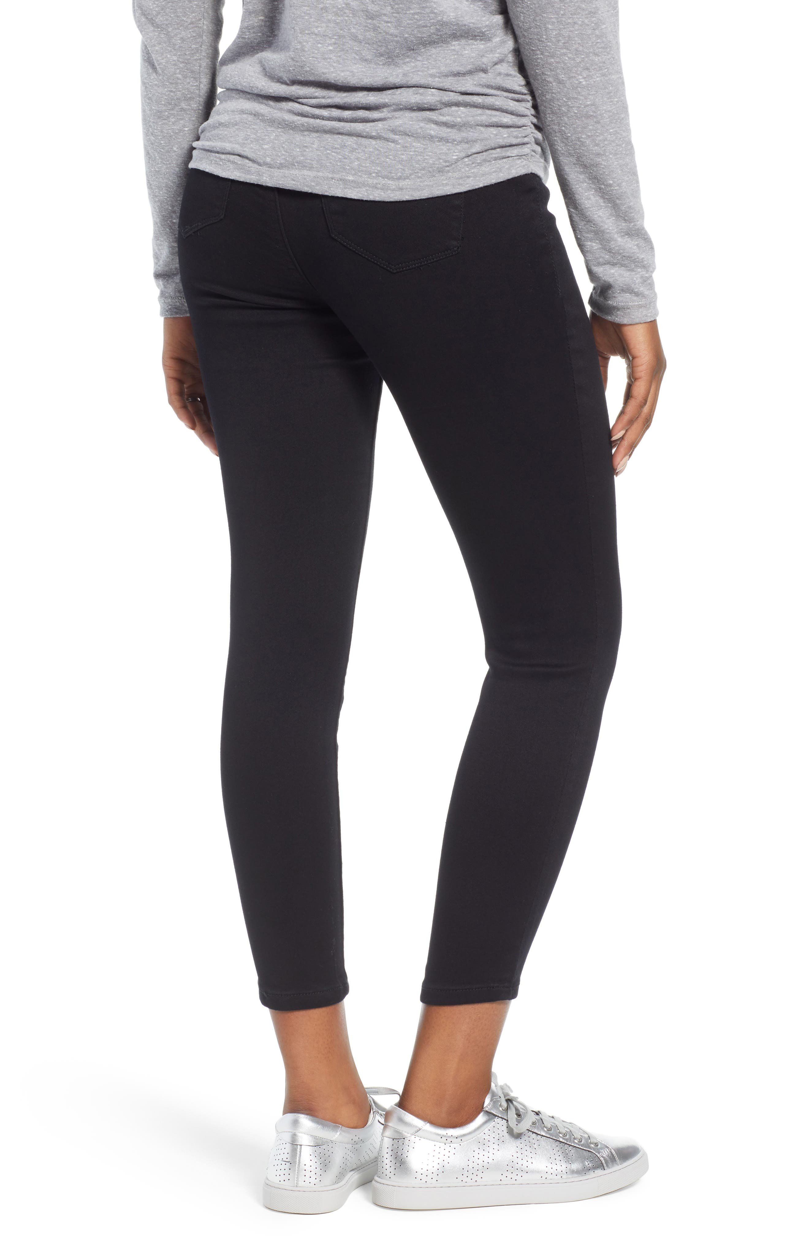 Butter Ankle Super Skinny Maternity Jeans,                             Alternate thumbnail 2, color,                             BLACK