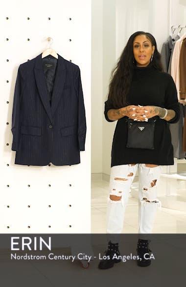 Jeanne Metallic Stripe Blazer, sales video thumbnail