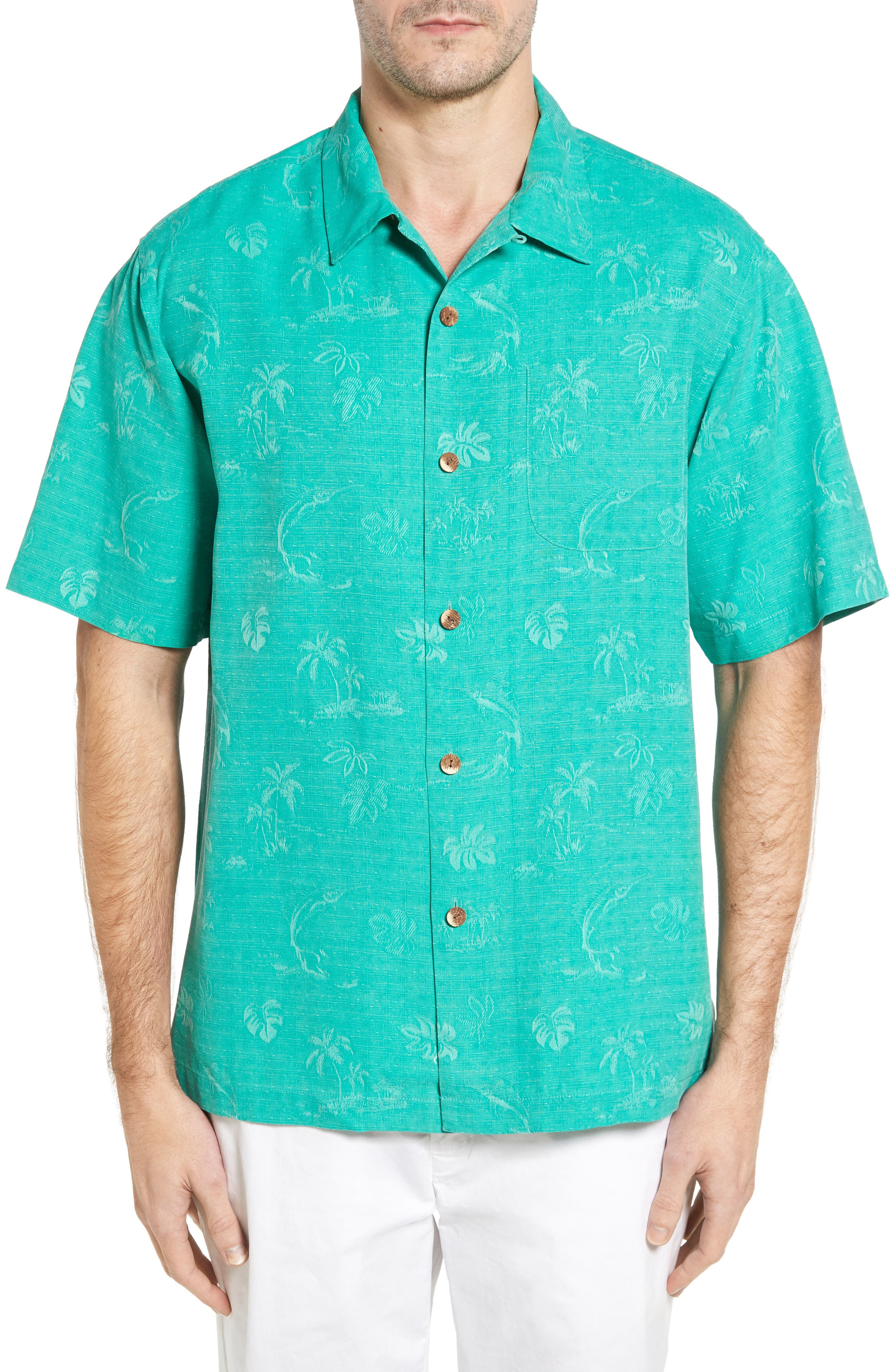 Gulf Shore Marlin Silk Camp Shirt,                             Main thumbnail 2, color,