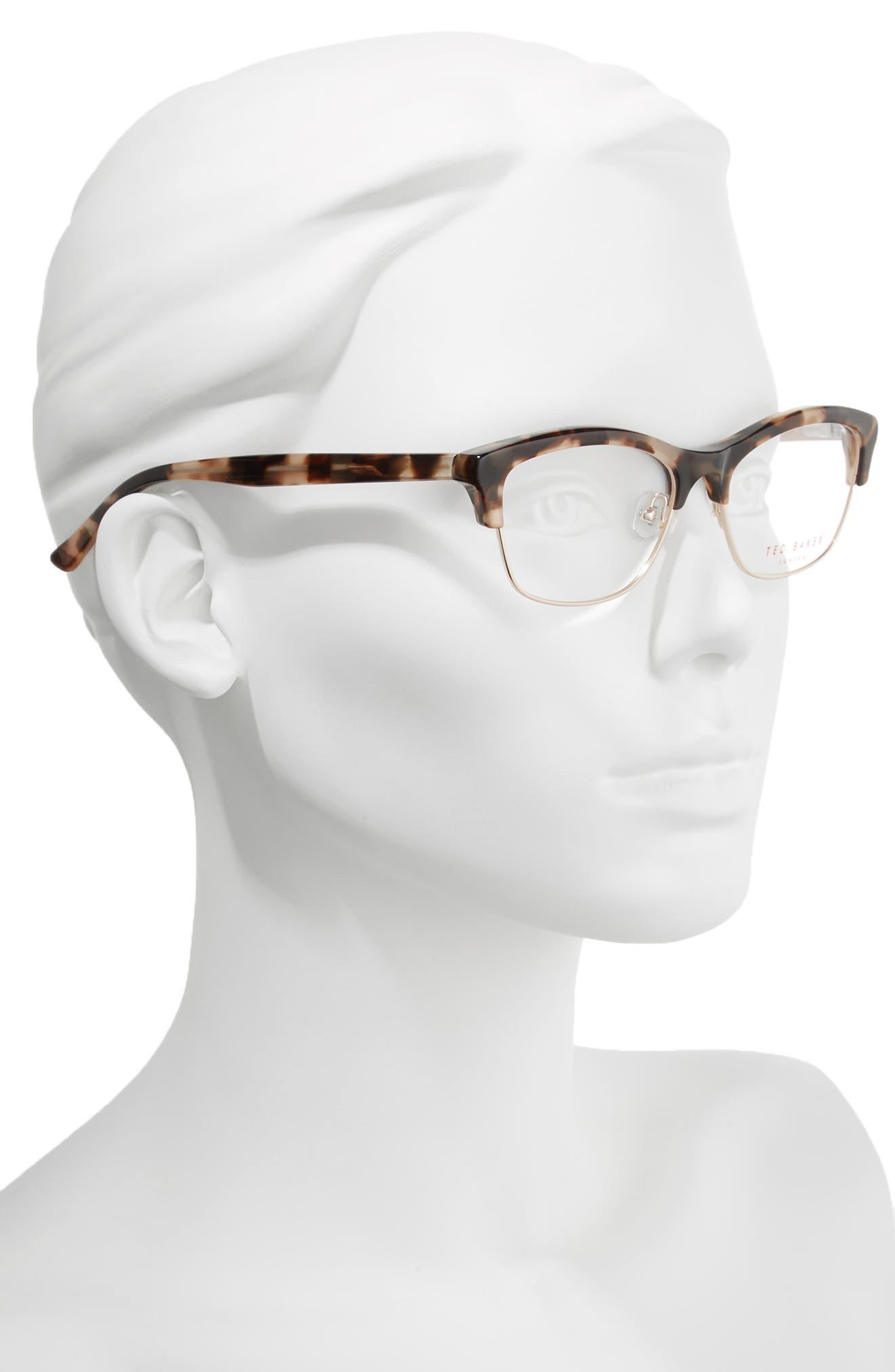 51mm Optical Cat Eye Glasses,                             Alternate thumbnail 2, color,                             200
