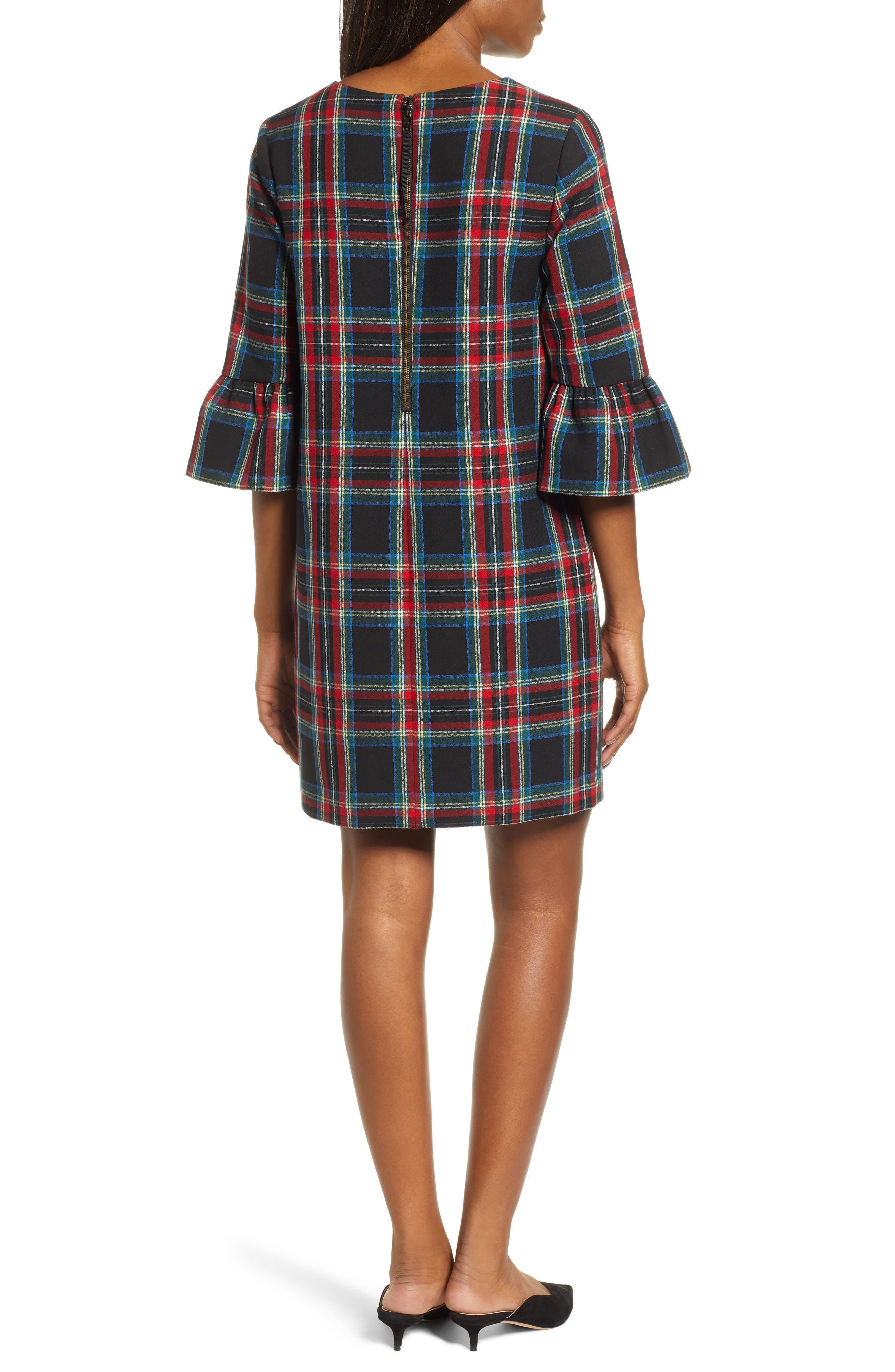Greenwich Jolly Plaid Shift Dress,                             Alternate thumbnail 2, color,                             002