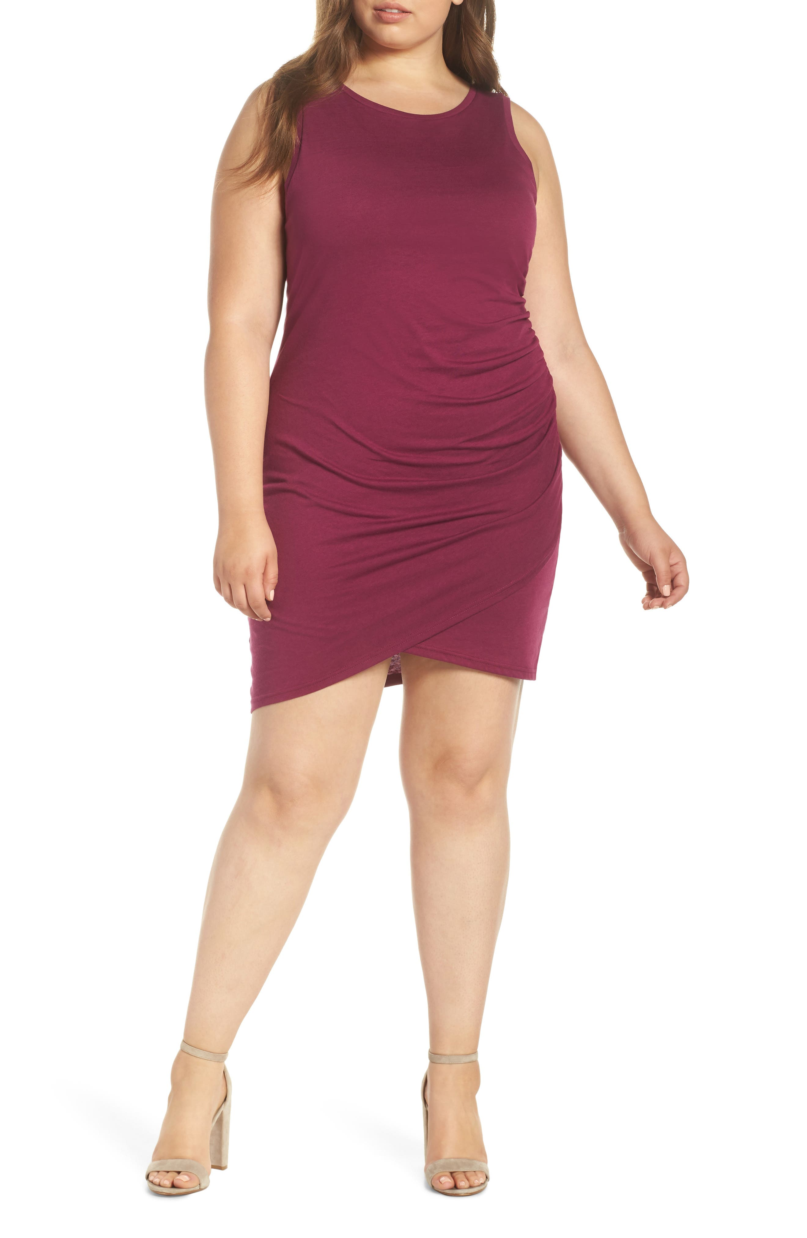 Plus Size Leith Ruched Sheath Dress, Purple
