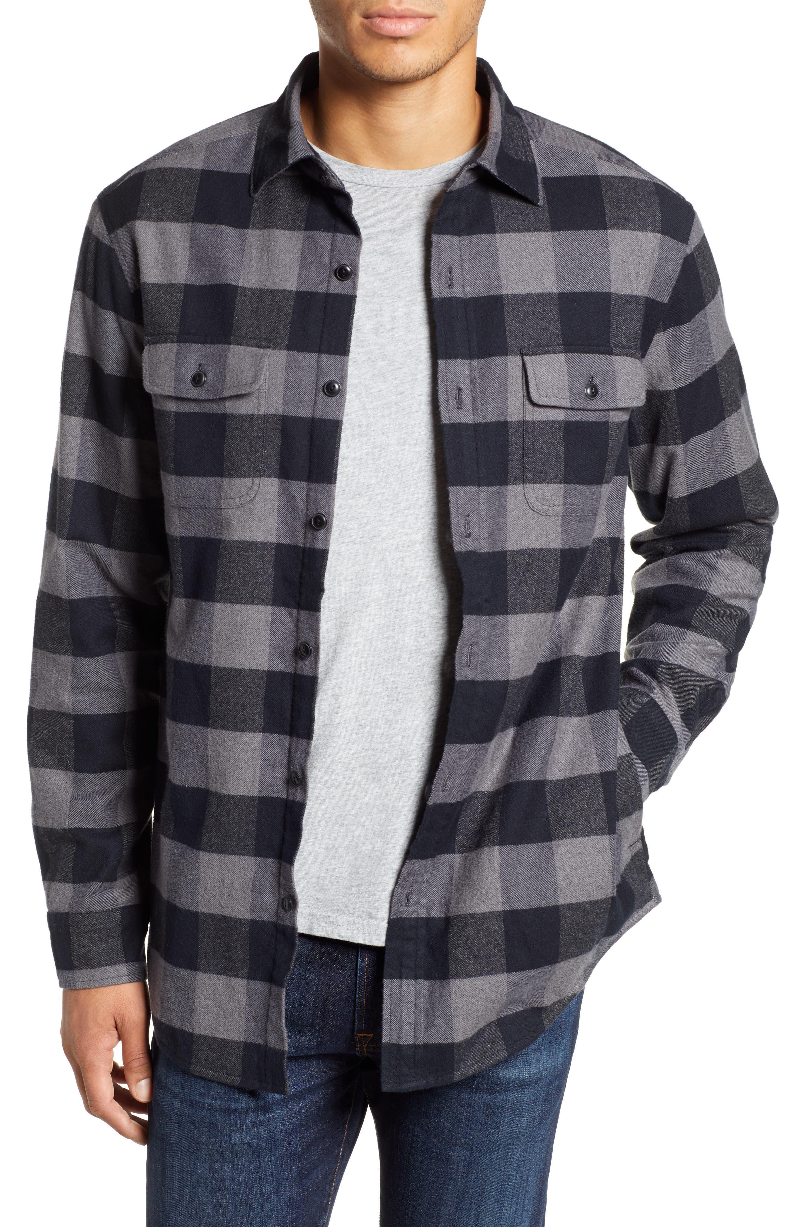 Deepwood Regular Fit Lined Flannel Shirt Jacket,                             Main thumbnail 1, color,                             EVENING SKY