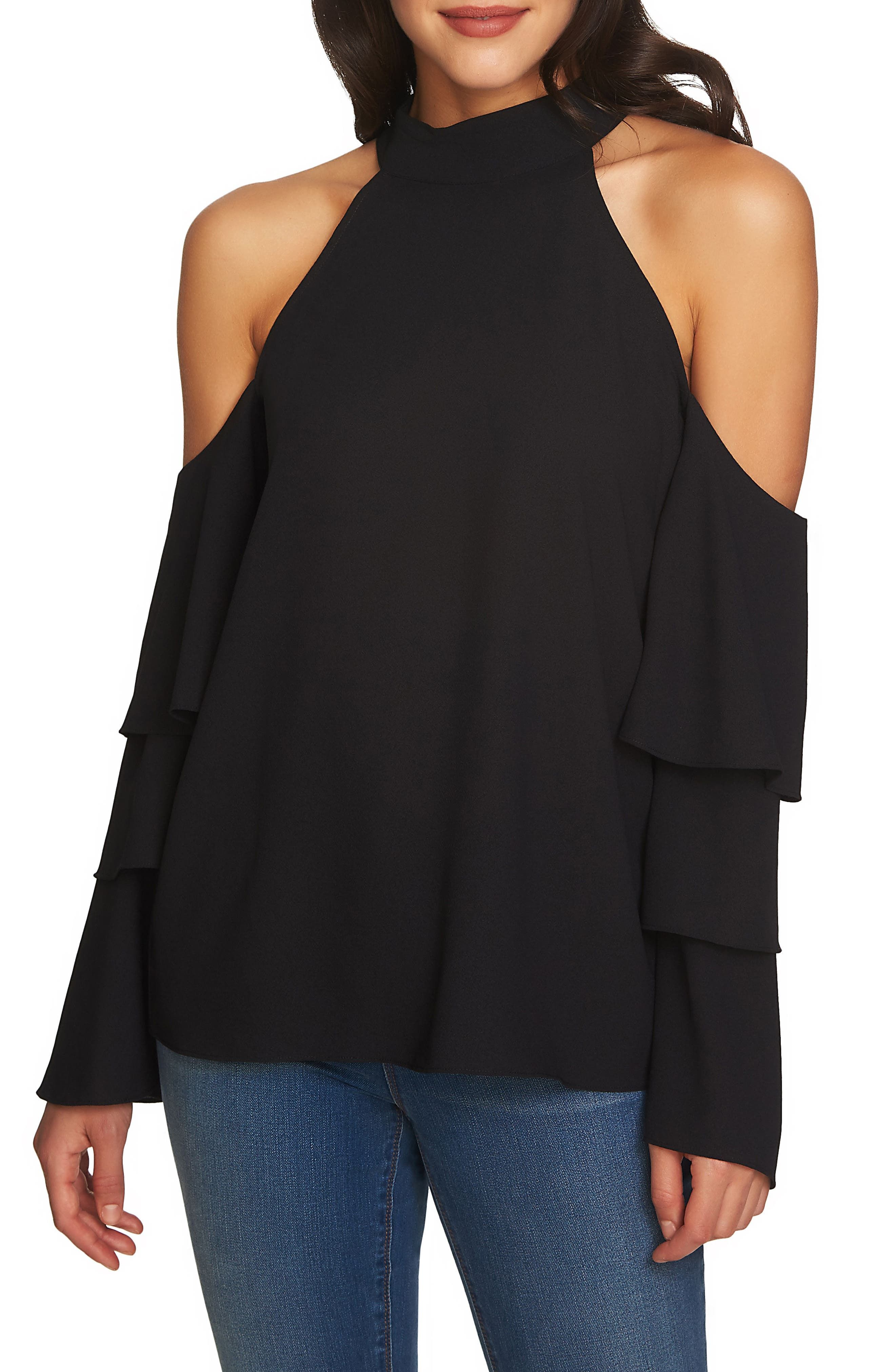 Cold Shoulder Blouse,                             Main thumbnail 1, color,                             006