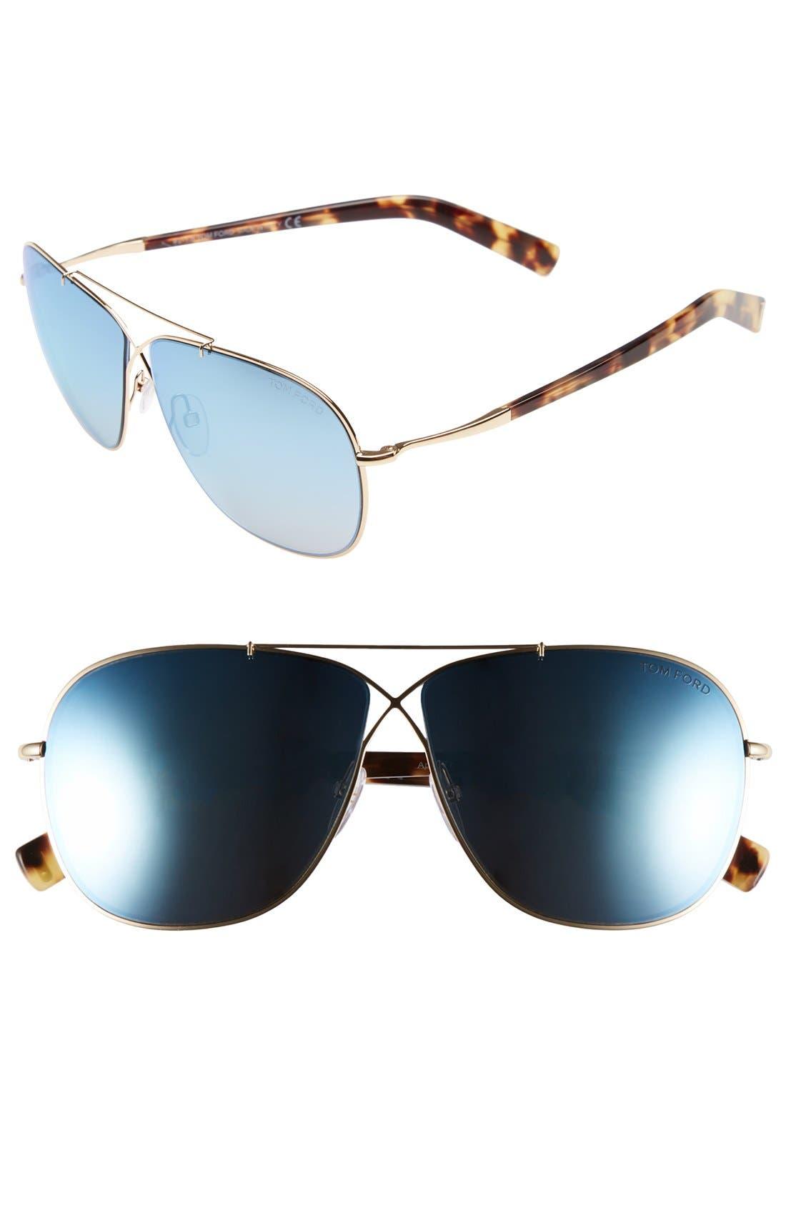 'April' 61mm Retro Sunglasses,                             Main thumbnail 4, color,
