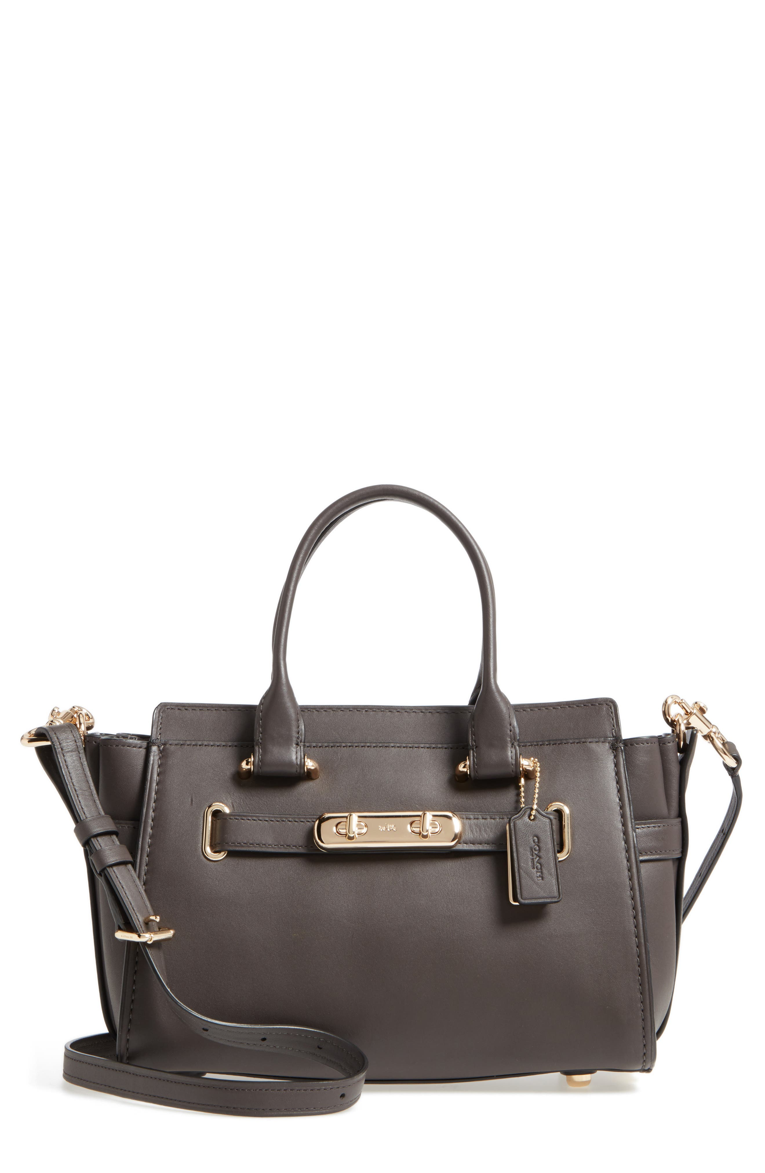 Swagger 27 Calfskin Leather Satchel,                             Main thumbnail 2, color,