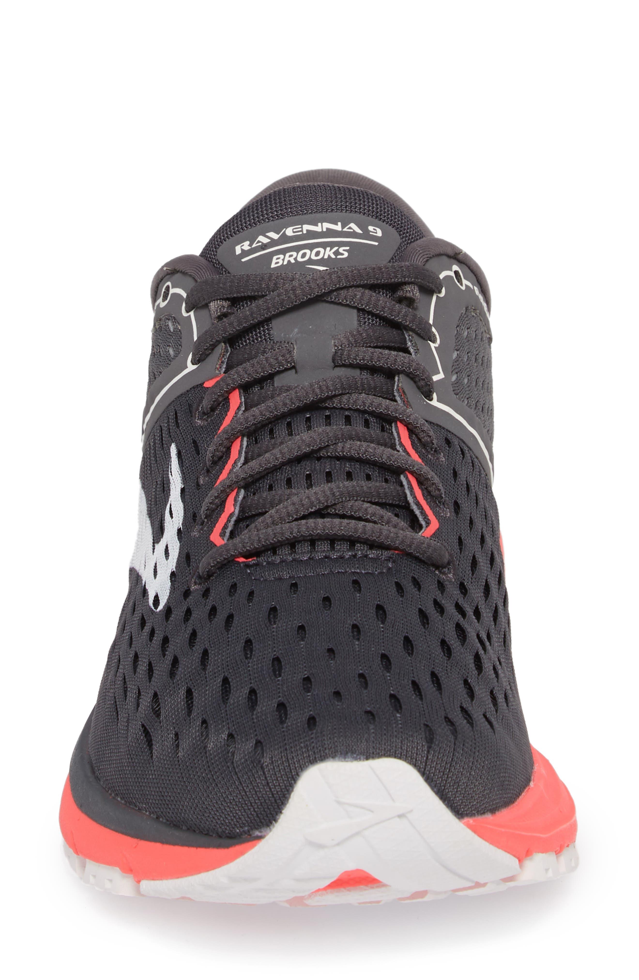 Ravenna 9 Running Shoe,                             Alternate thumbnail 4, color,                             EBONY/ DIVA PINK/ WHITE