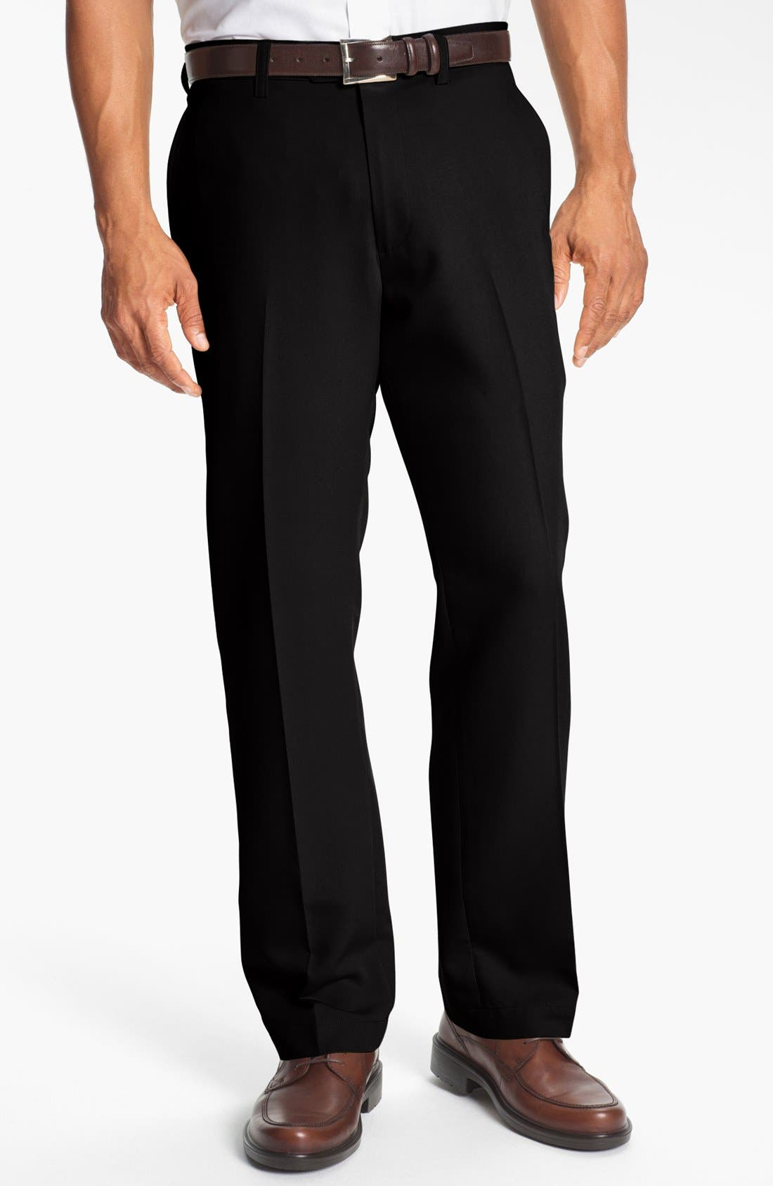 Microfiber Twill Pants,                         Main,                         color, BLACK