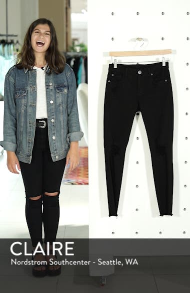 Emma Ripped Fray Hem Skinny Jeans, sales video thumbnail