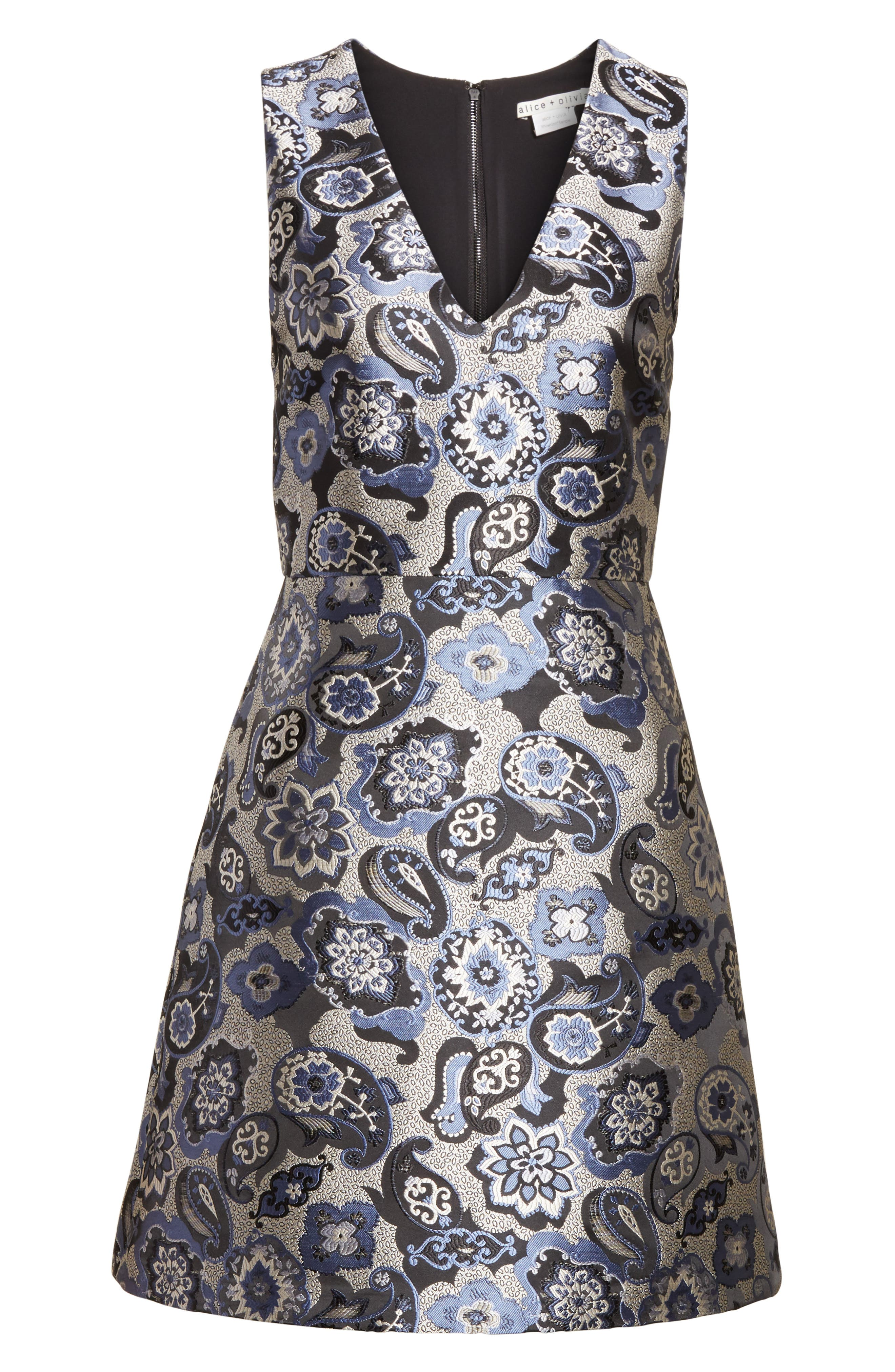 Malin V-Neck Dress,                             Alternate thumbnail 6, color,                             499