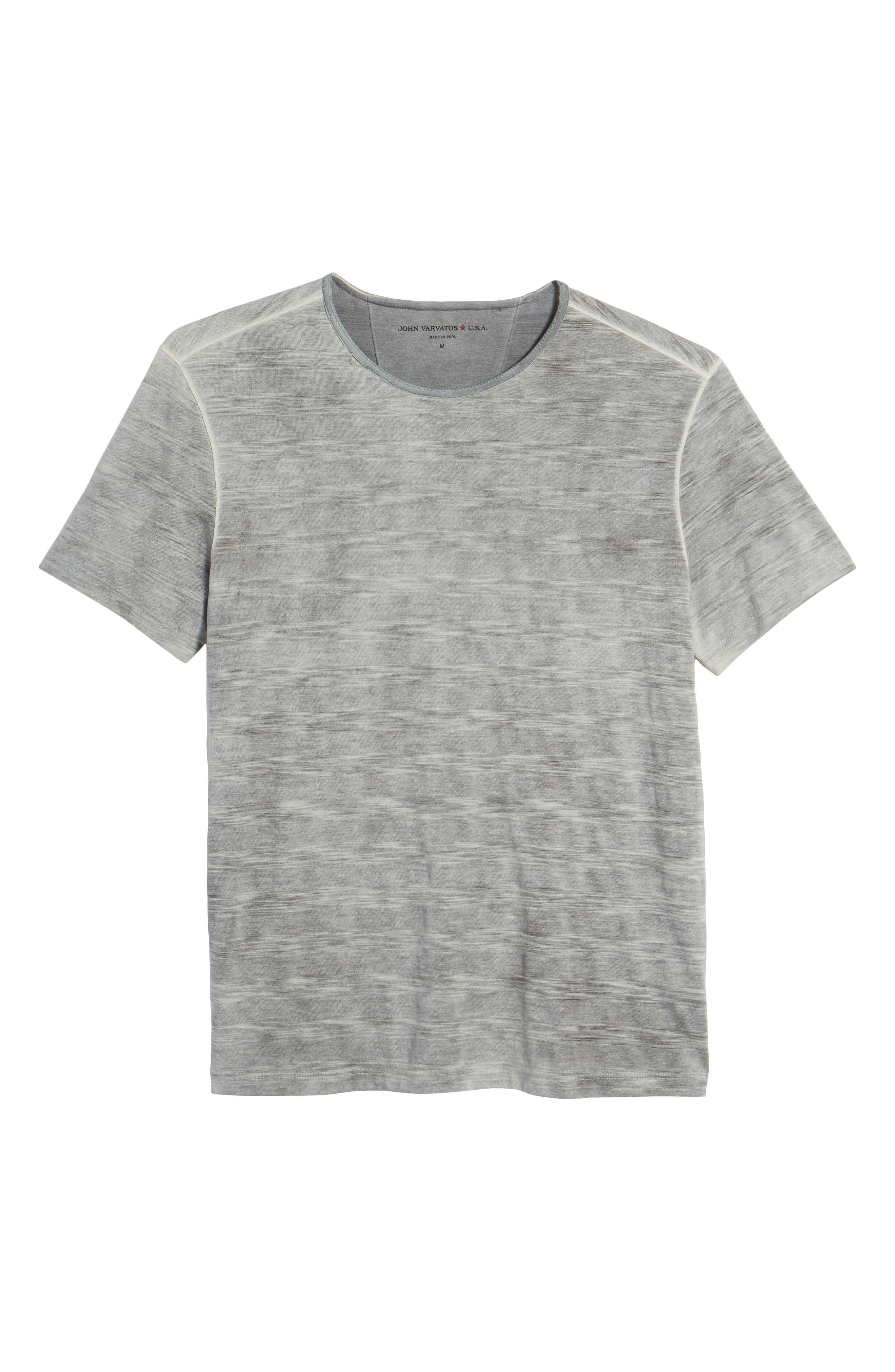 Slim Fit Ombré Stripe T-Shirt,                             Alternate thumbnail 6, color,                             077