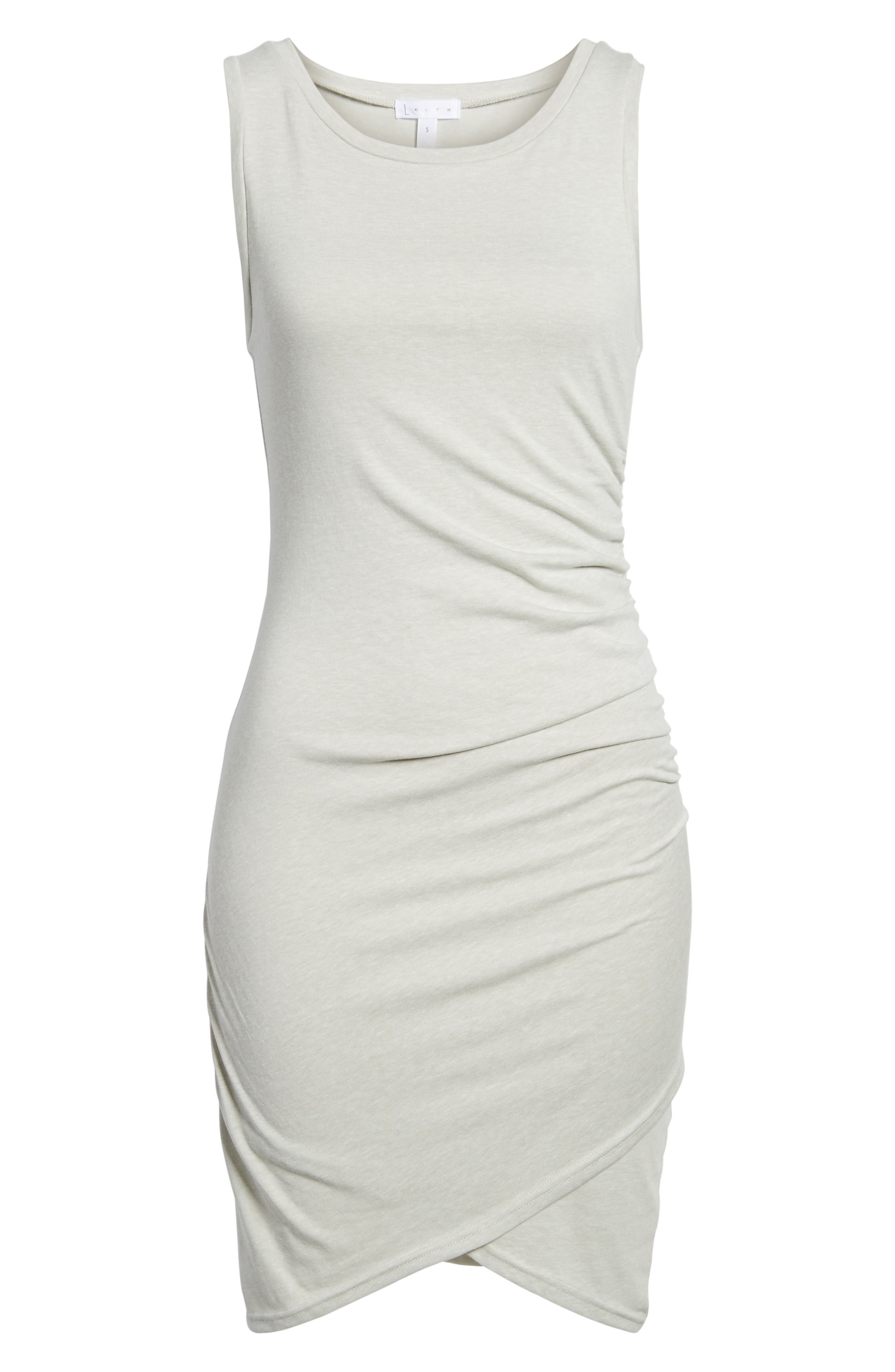 Ruched Body-Con Tank Dress,                             Alternate thumbnail 166, color,