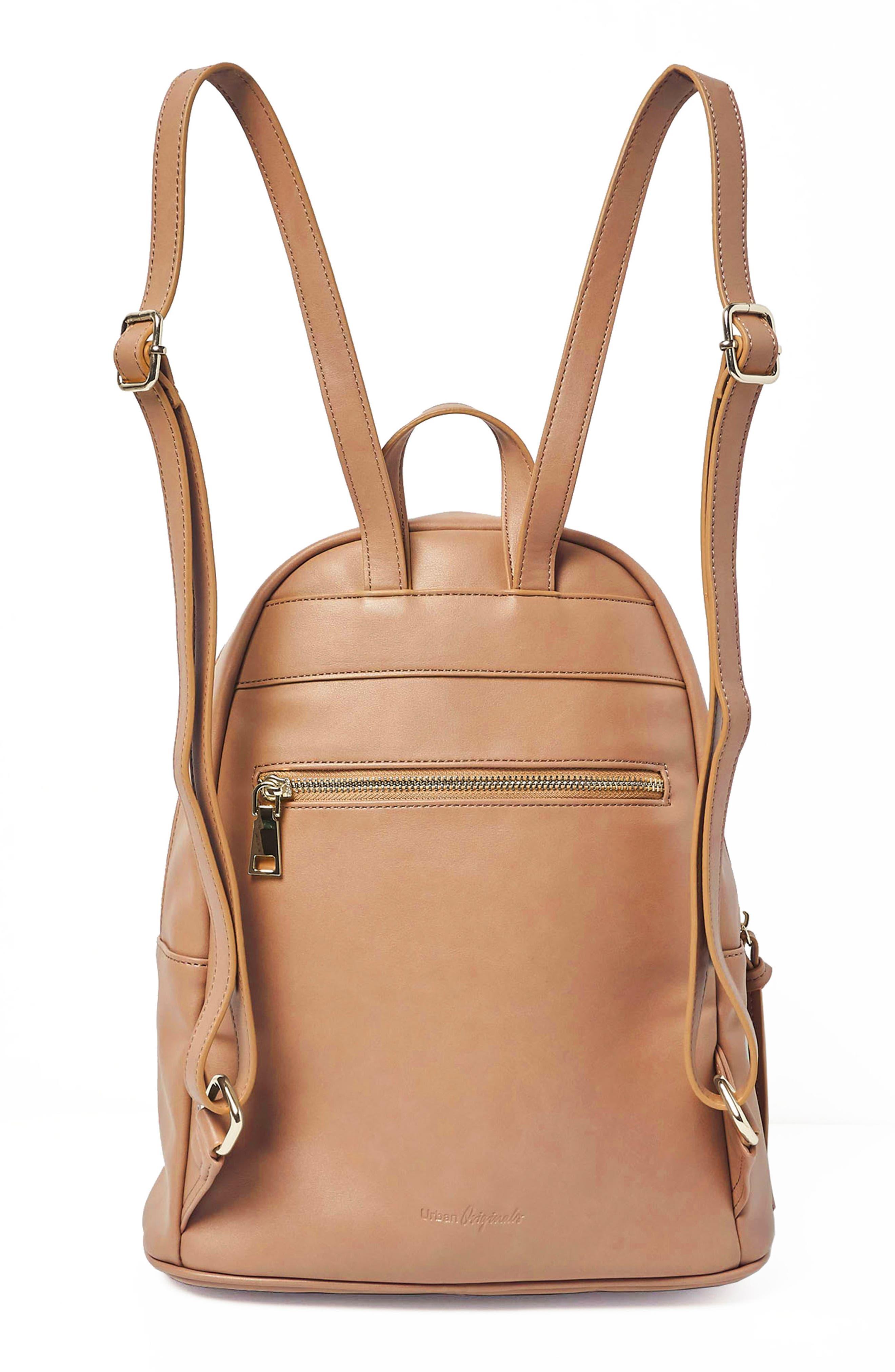 Sublime Vegan Leather Backpack,                             Alternate thumbnail 6, color,